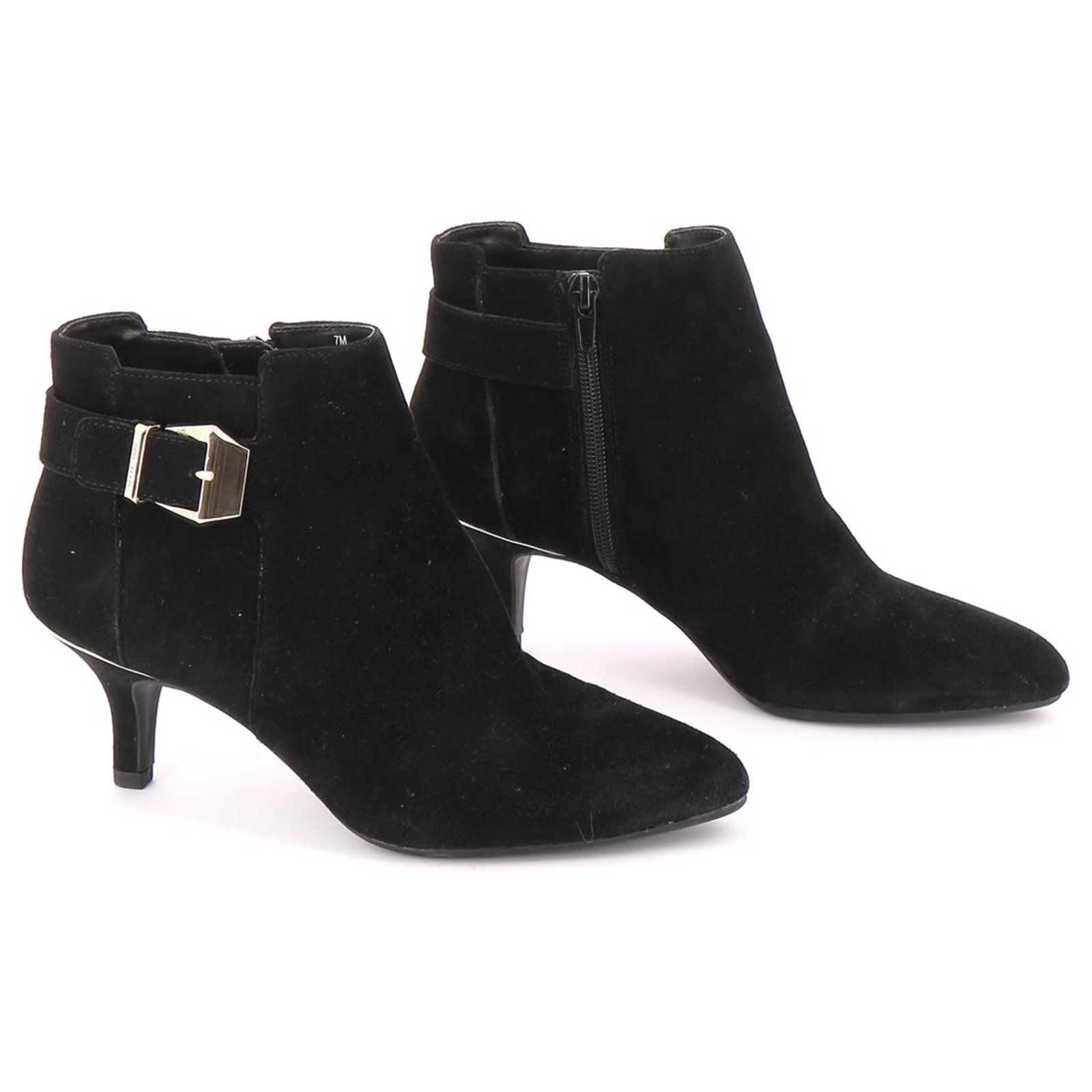 online for sale detailed images attractive price Anne Klein Ankle Boots / Low Boots Ankle Boots Leather Black ref ...