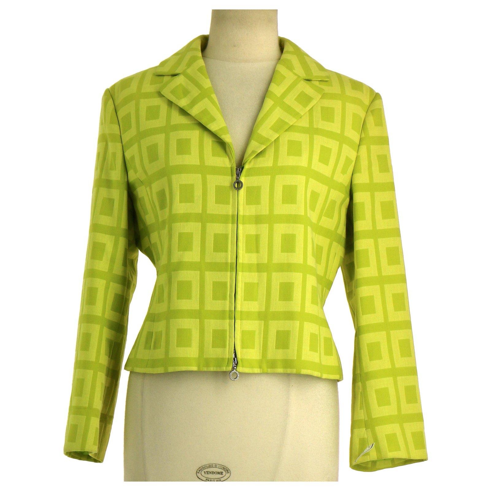 Vestes Versace Veste / Blazer Coton Vert