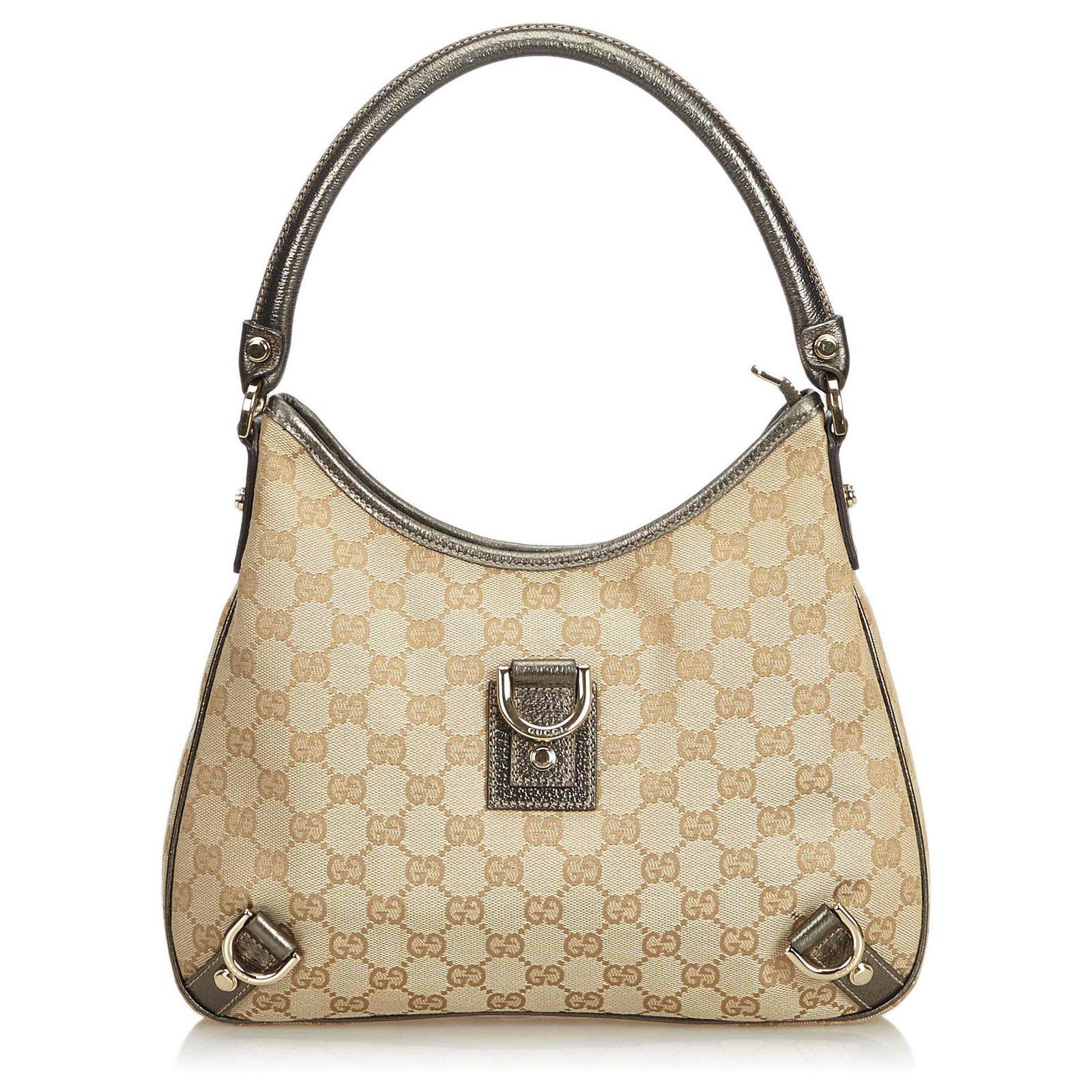 22c657f9ed2 Gucci GG Jacquard Abbey Shoulder Bag Handbags Leather
