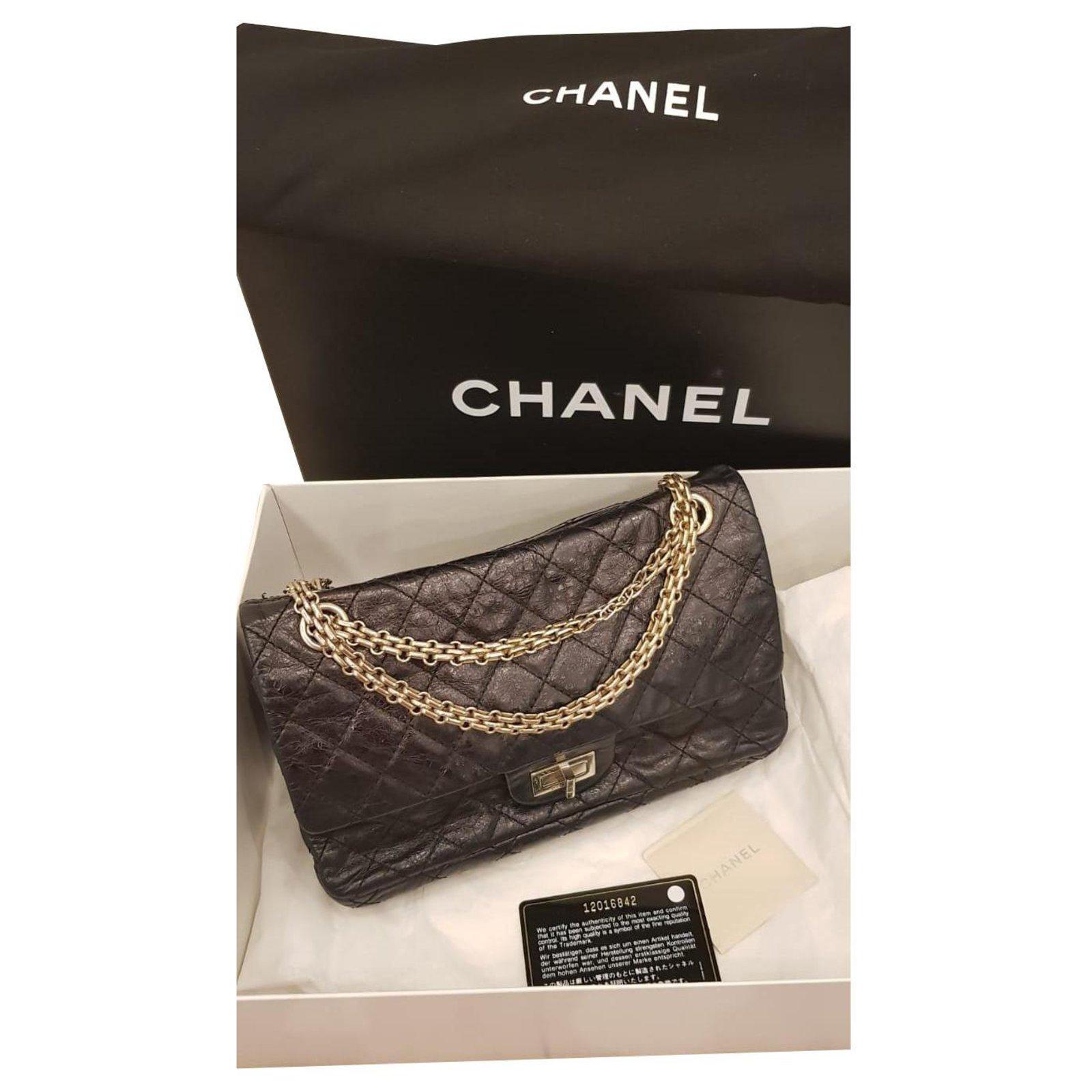 0953665c0f182d Chanel Reissue 2.55 Handbags Leather Black ref.113155 - Joli Closet
