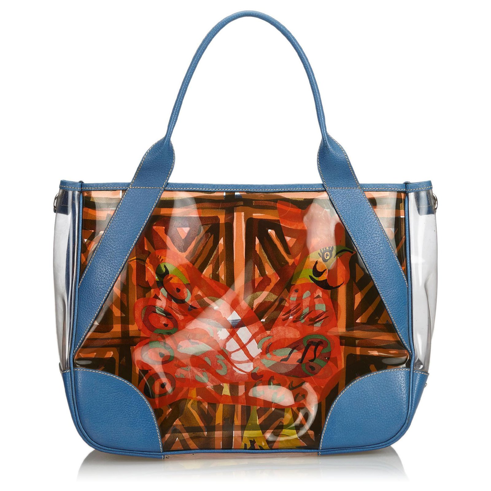 b8675dd875db Prada Printed Vinyl Tote Bag Totes Leather