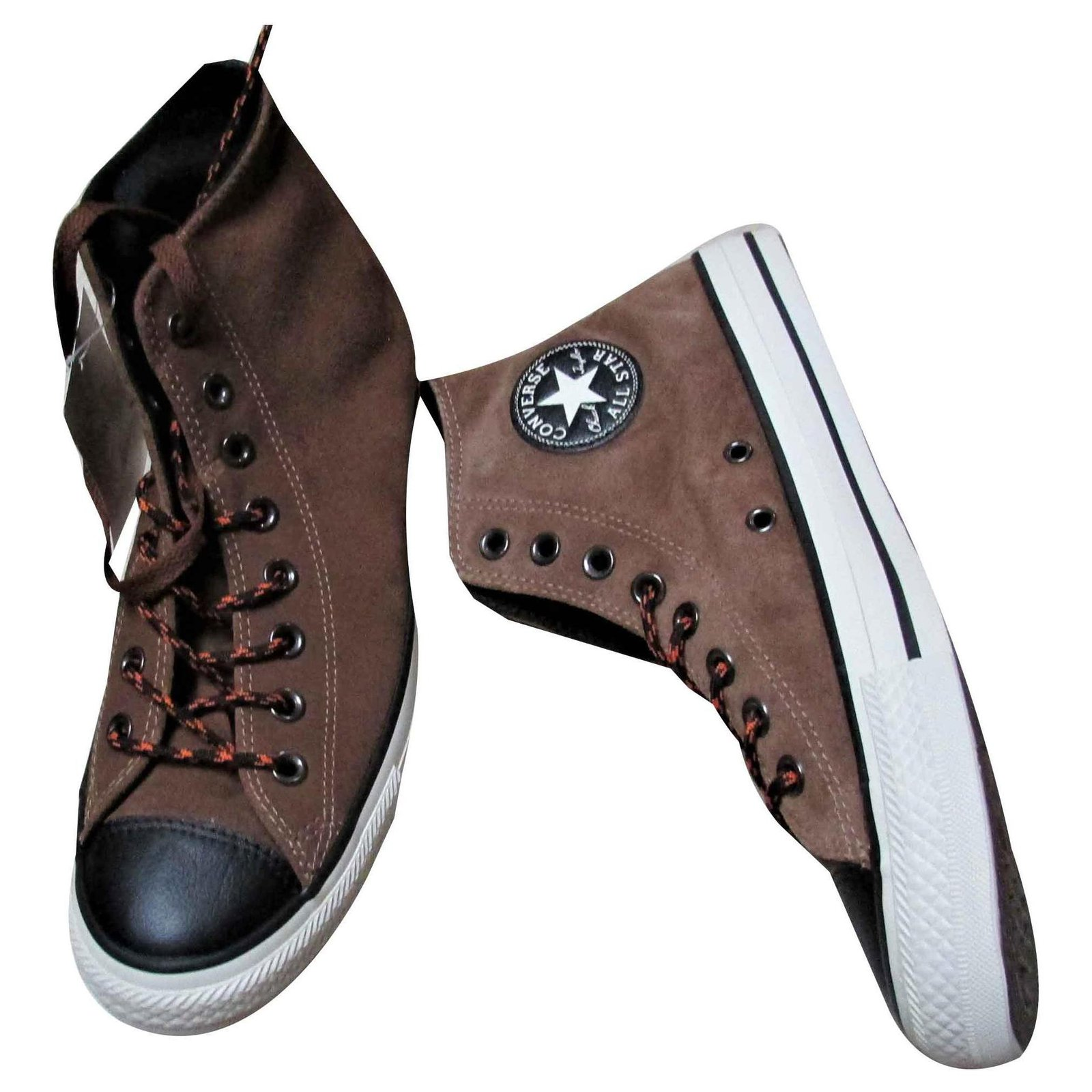 basket converse cuir marron