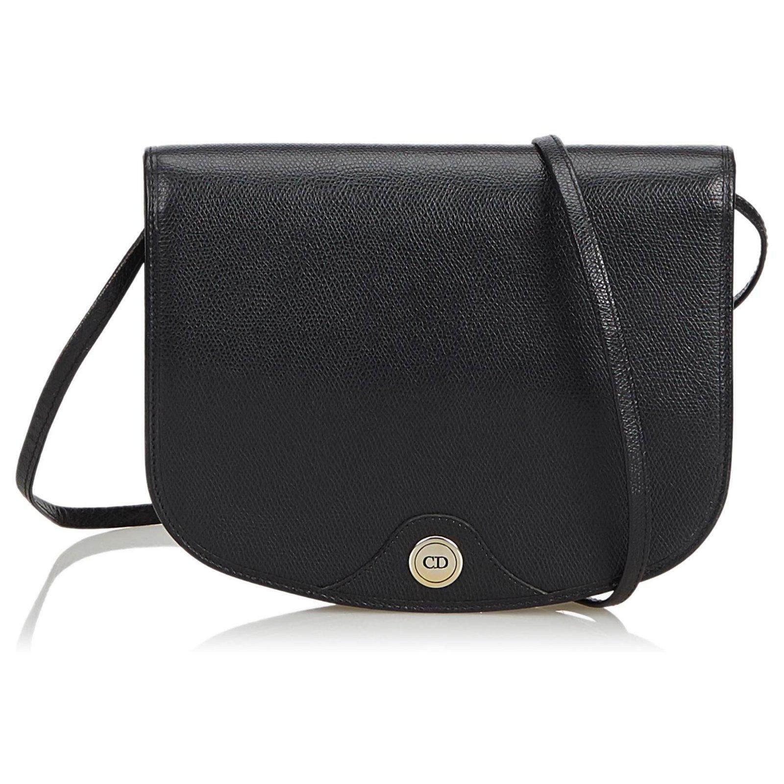 158da7a378 Dior Leather Crossbody Bag Handbags Leather,Other Black ref.116094 ...