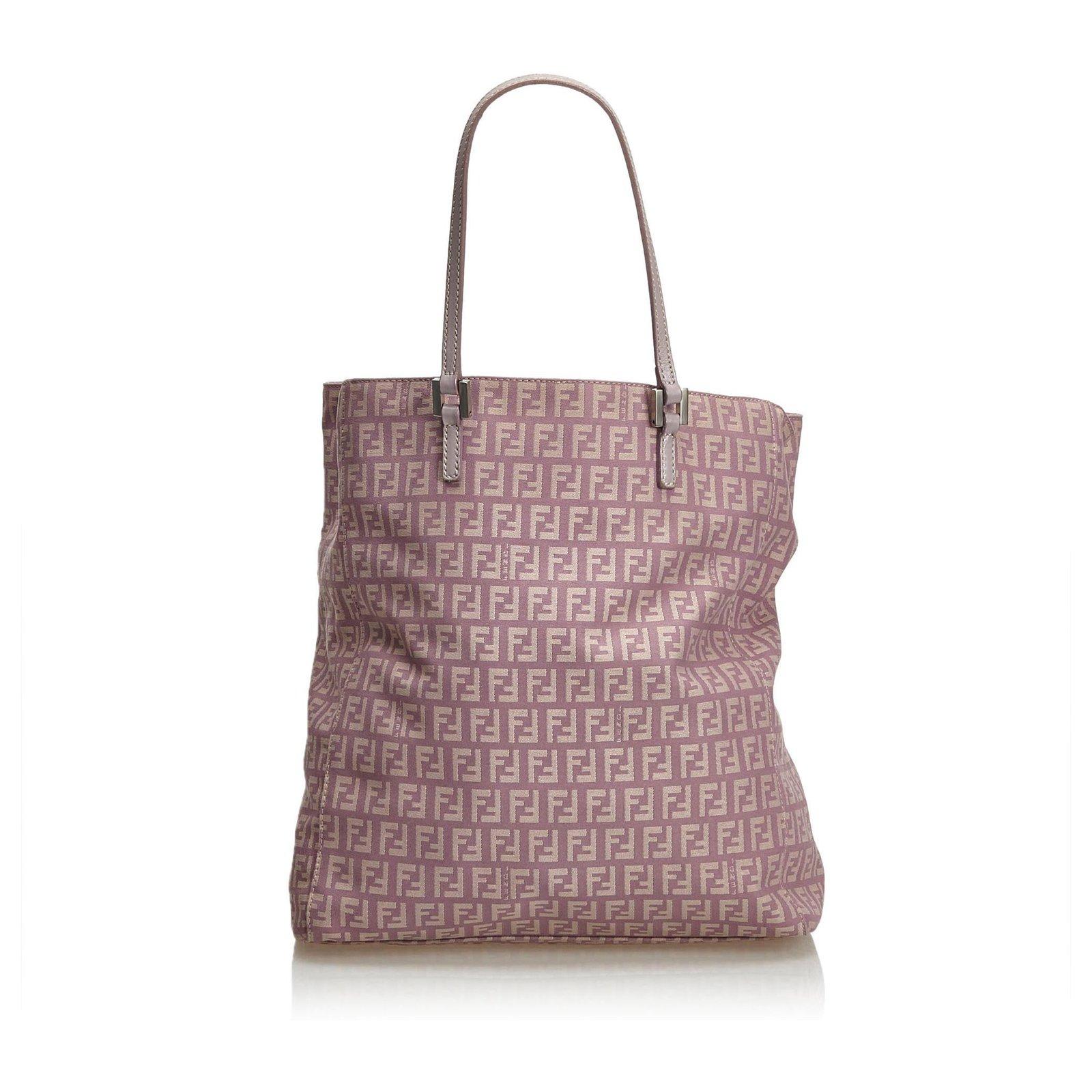 7368ea3a06cae Fendi Zucchino Jacquard Tote Bag Totes Leather