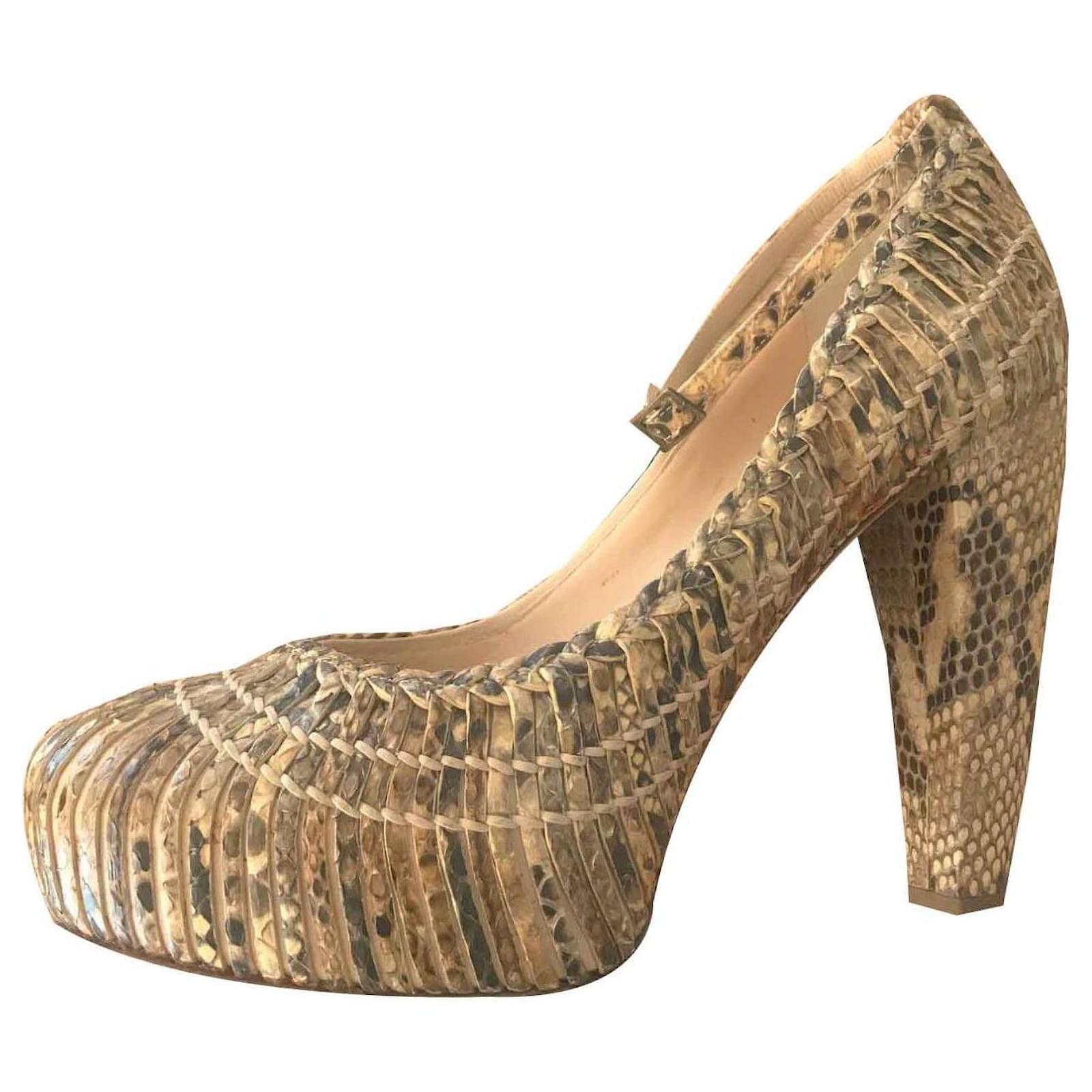Dior DIOR SKIN PYTHON PUMPS Heels