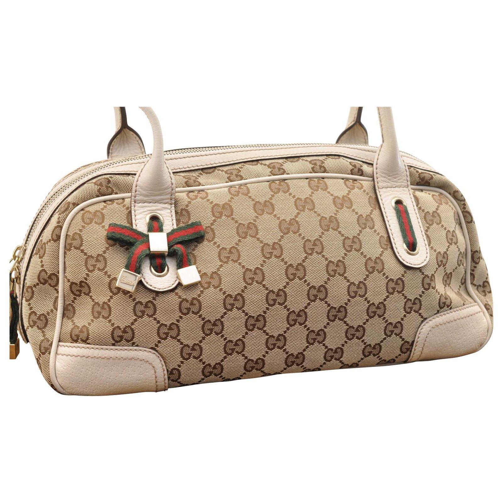 Sacs à main Gucci Gucci Sherry Line Cuir Beige ref.168721