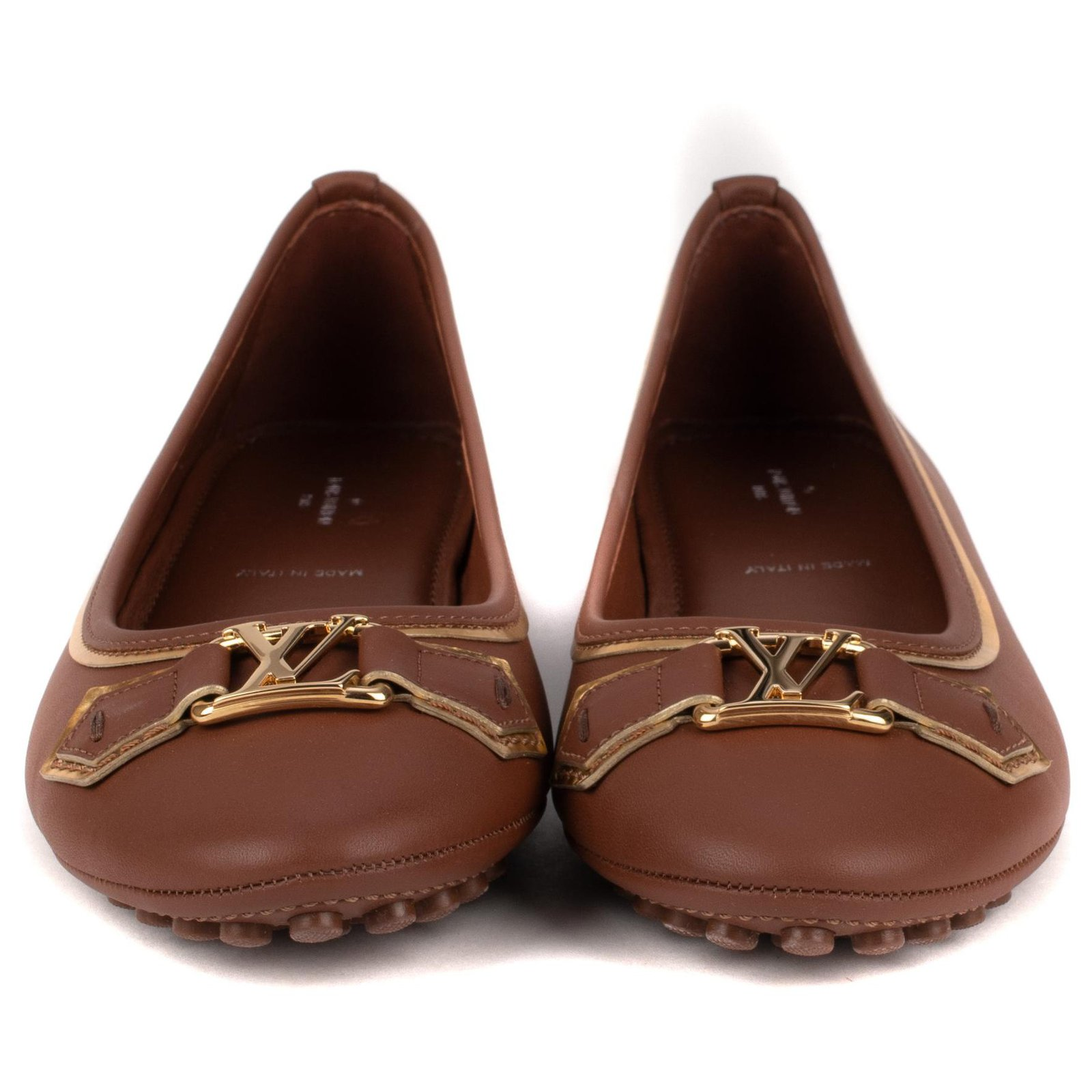 Ballet flats Leather Brown ref.117319