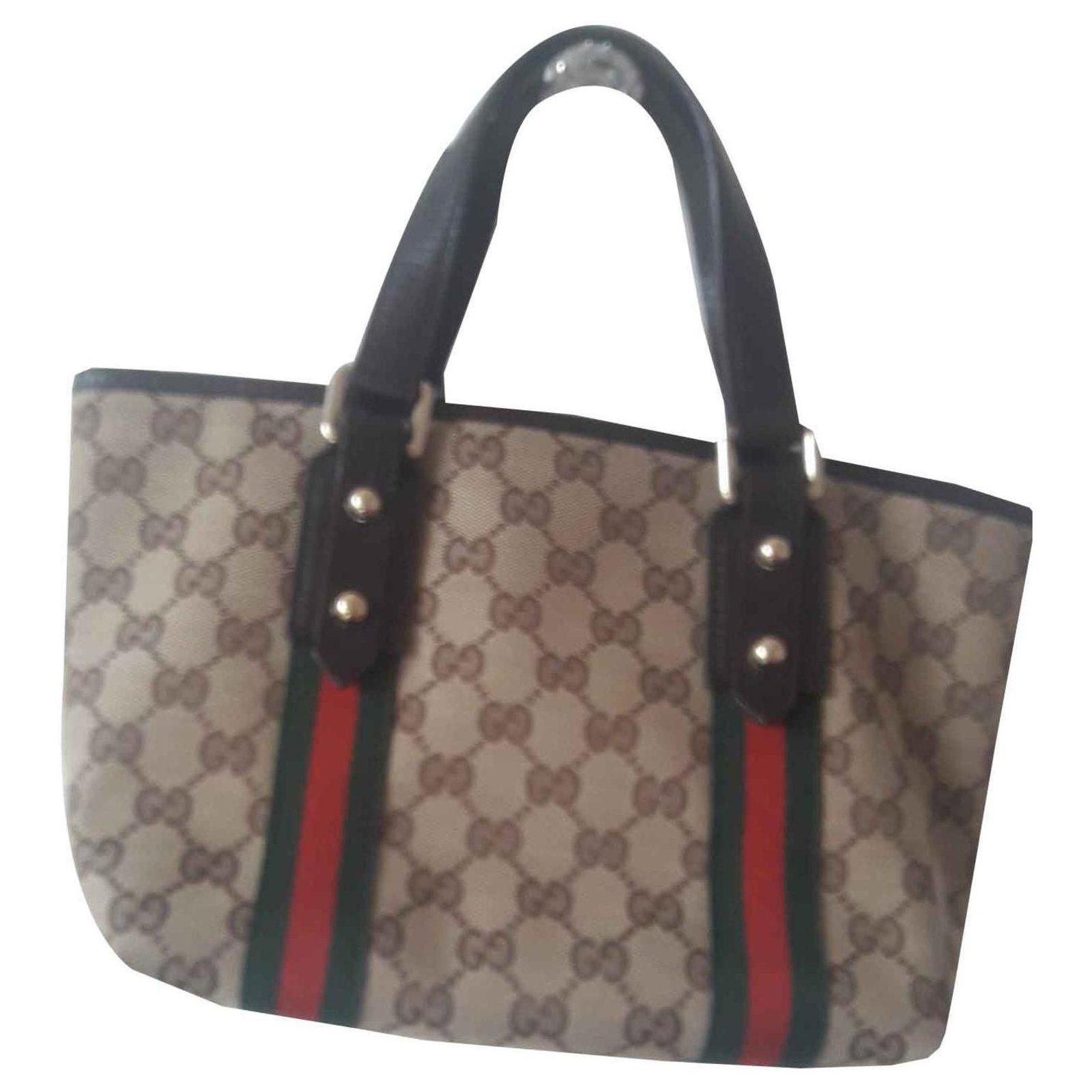 26d19cf241e Gucci Charm small tote Handbags Cloth Beige ref.118007 - Joli Closet