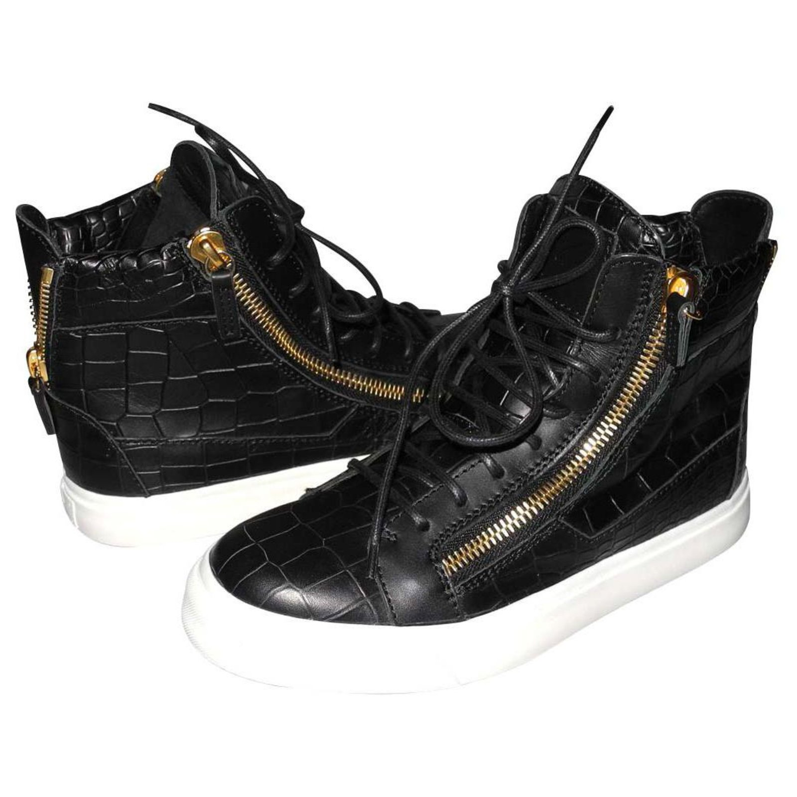 Giuseppe Zanotti sneakers Kriss black leather alligator