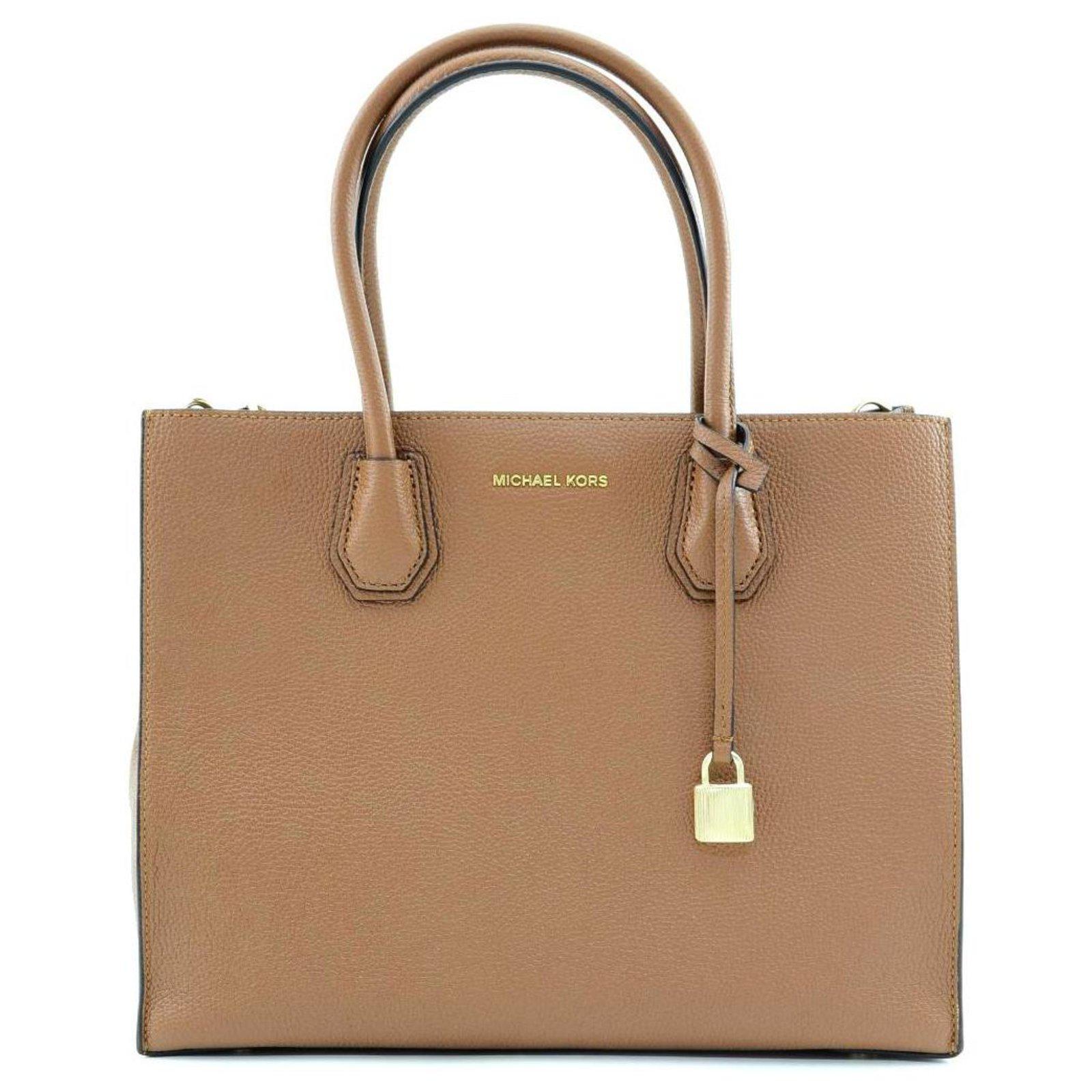 Michael Kors Mk Tote Bag Handbags Leather Brown Ref 118255