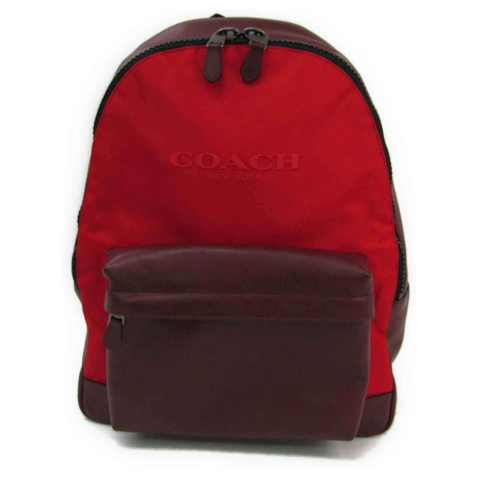 Sac à dos Coach en nylon rouge