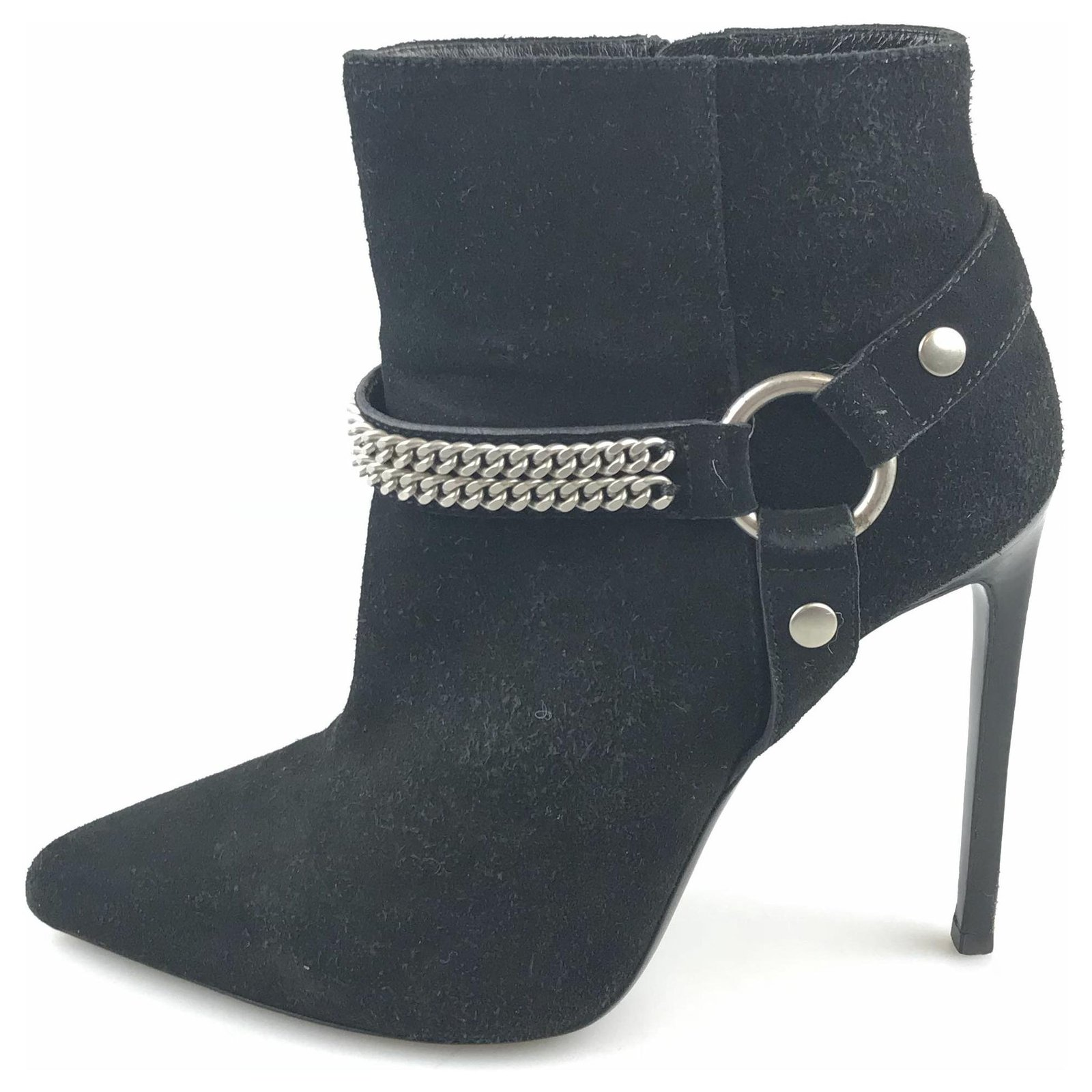 c8c7000d5c YSL Black Suede Ankle Boot