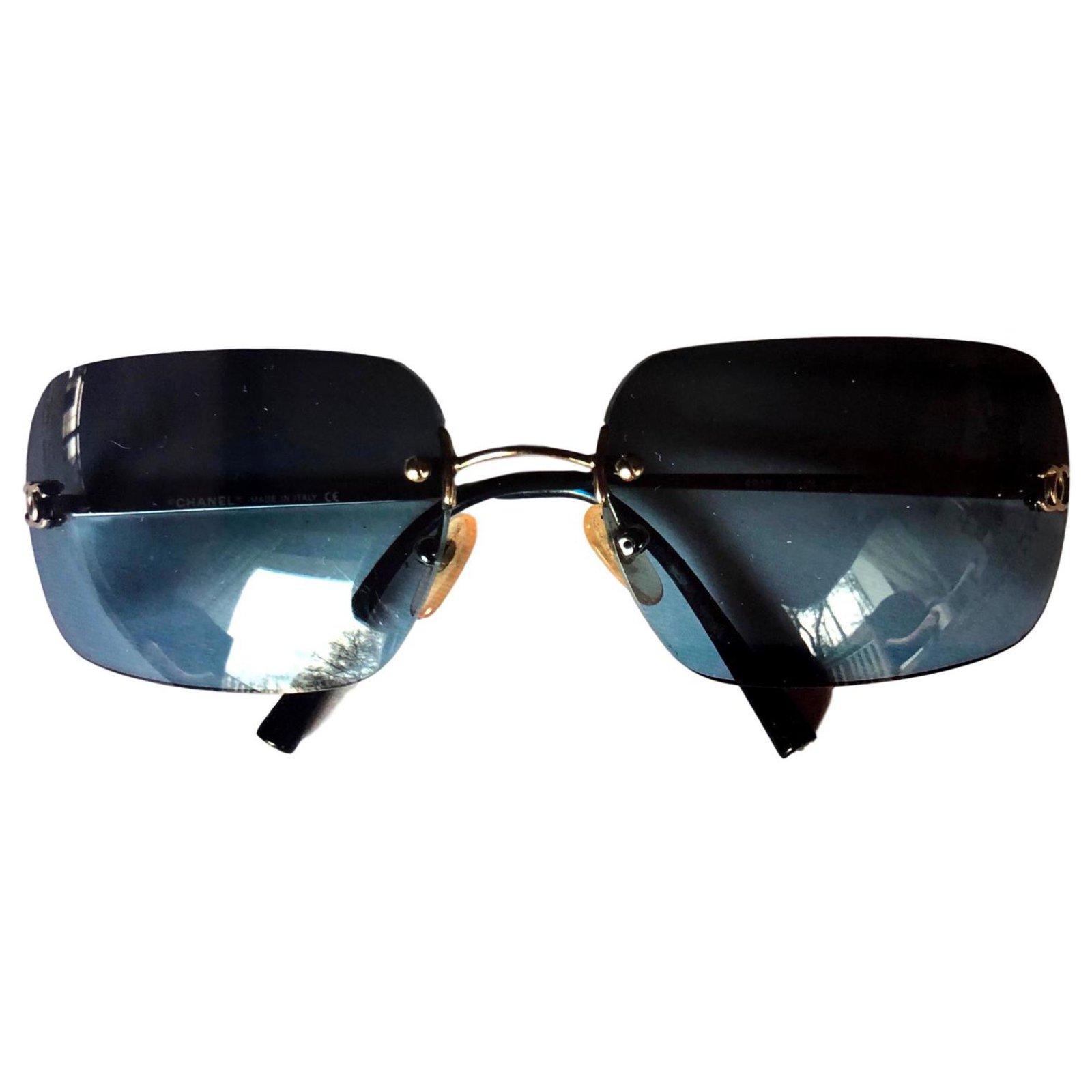 7e2e79dbb8 Chanel Chanel vintage glasses Sunglasses Metal Blue ref.120031 ...
