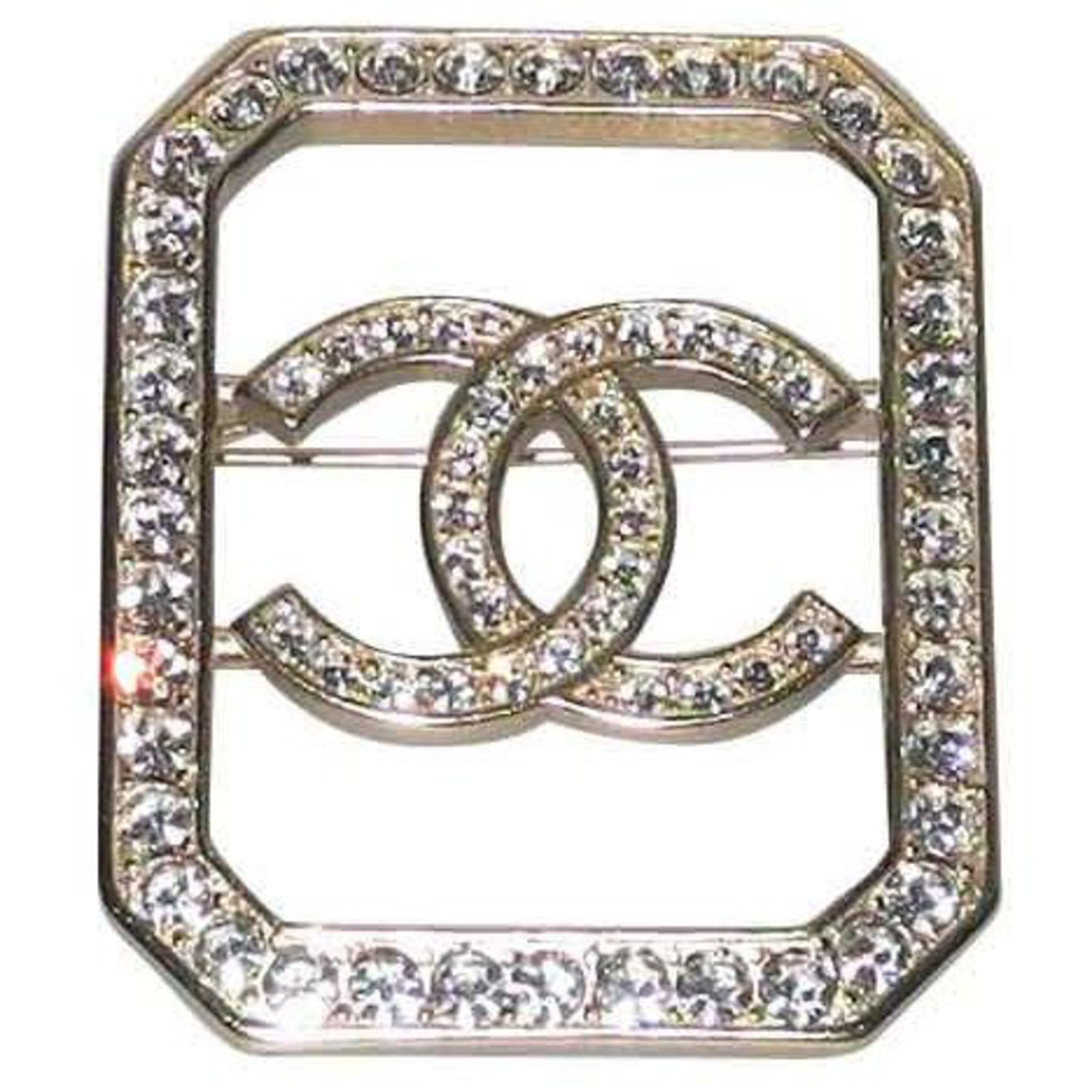 Chanel brooch gold metal and rhinestones, Collection 2018 superb