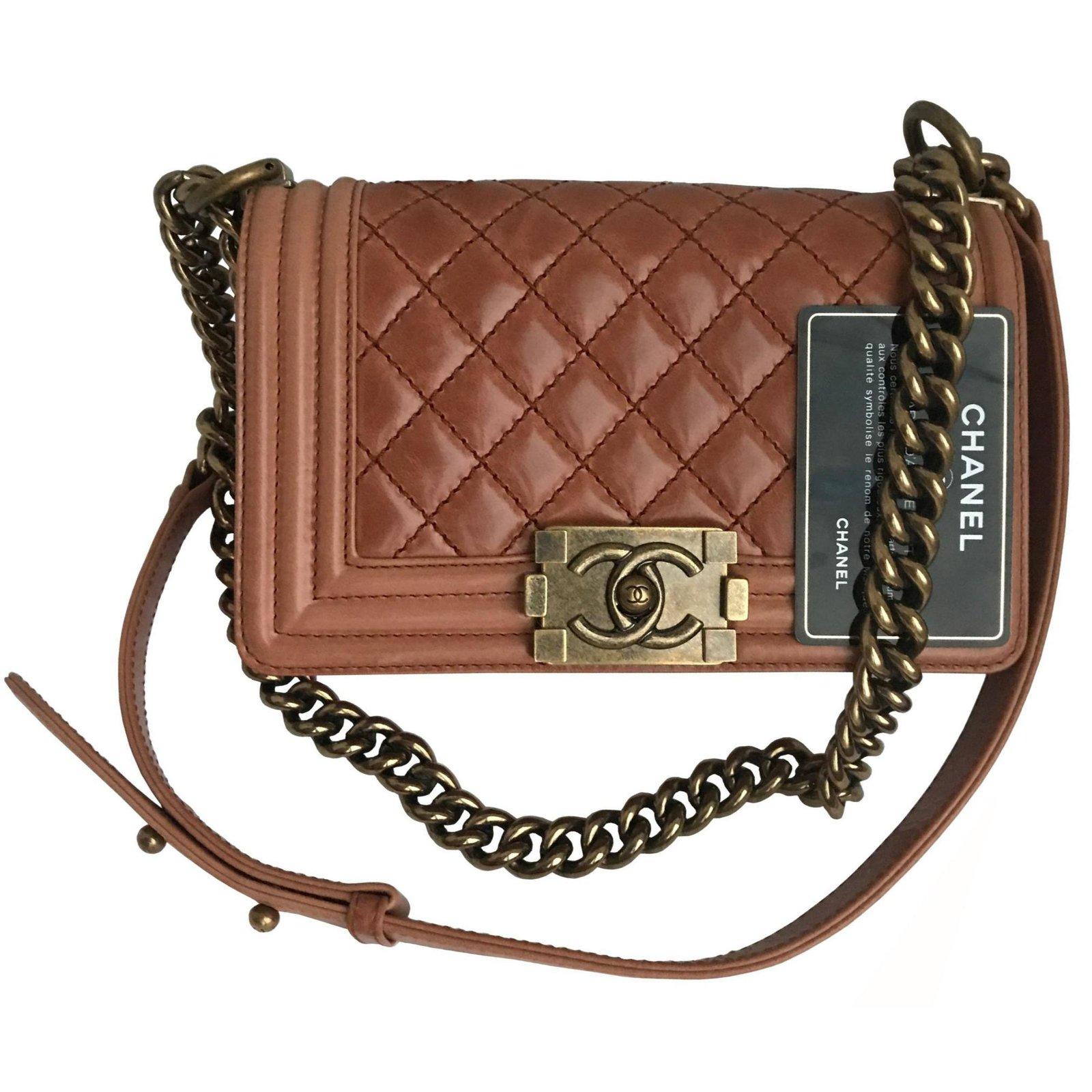 685ca94c7b5c Chanel Never worn w/card Small Boy Flap Bag Handbags Leather Other  ref.120858