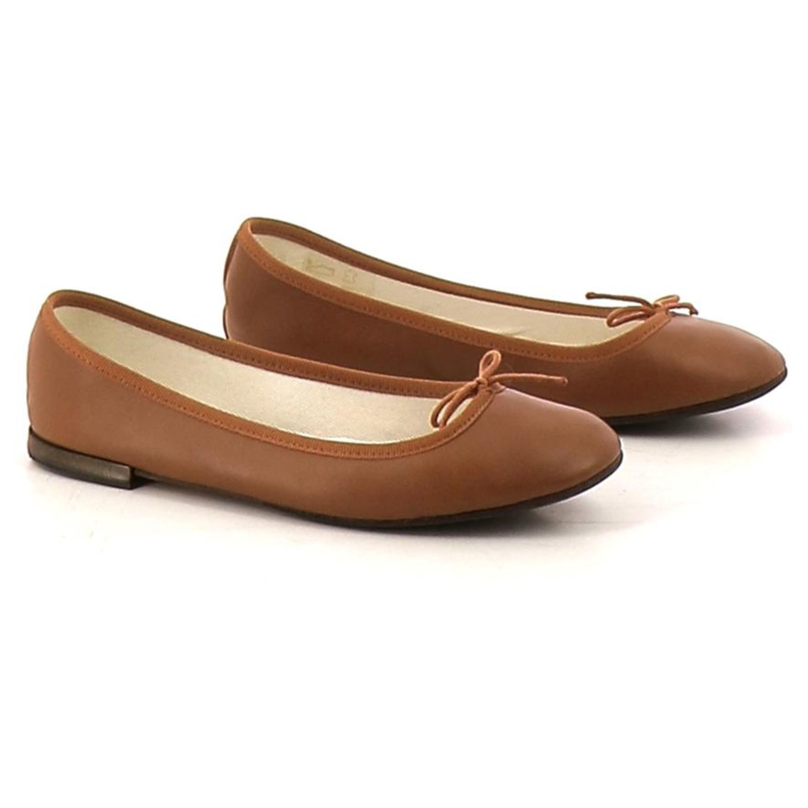 Repetto Dancers Ballet Flats Leather Brown Ref 121403 Joli