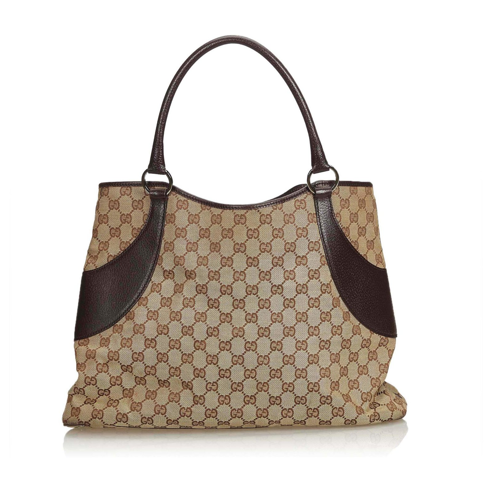 fea70c59e672 Gucci Gucci Brown GG Canvas Tote Bag Totes Leather,Other,Cloth,Cloth Brown