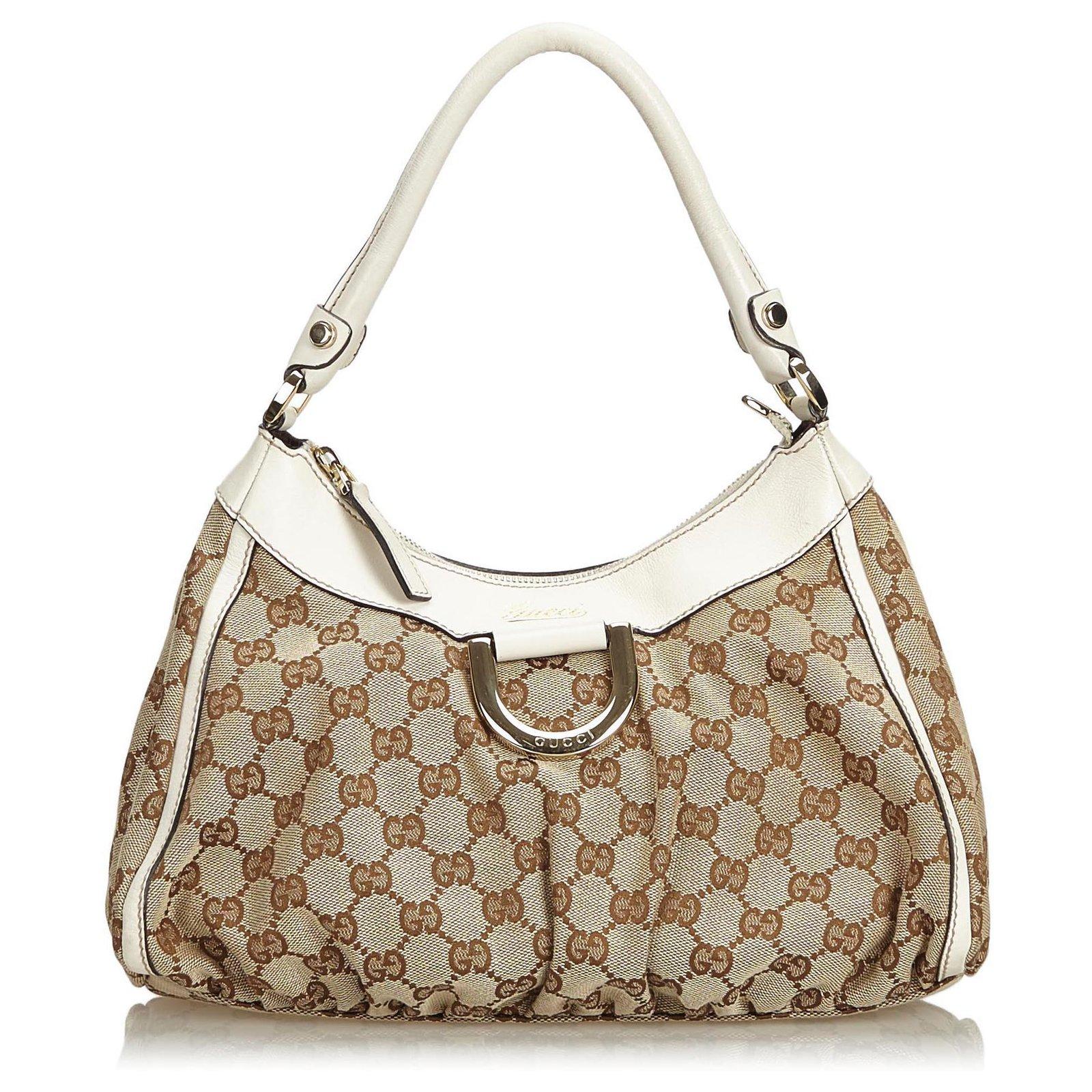 a45f44c2975 Gucci Gucci Brown GG Jacquard Abbey D-Ring Handbag Handbags Leather ...