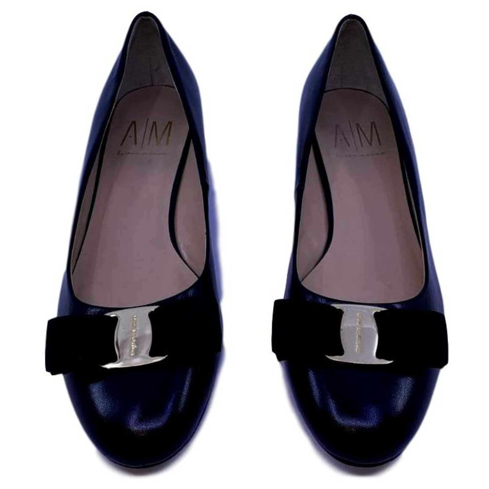 where can i buy speical offer new list Salvatore Ferragamo black leather ballerina shoes Ballet flats ...
