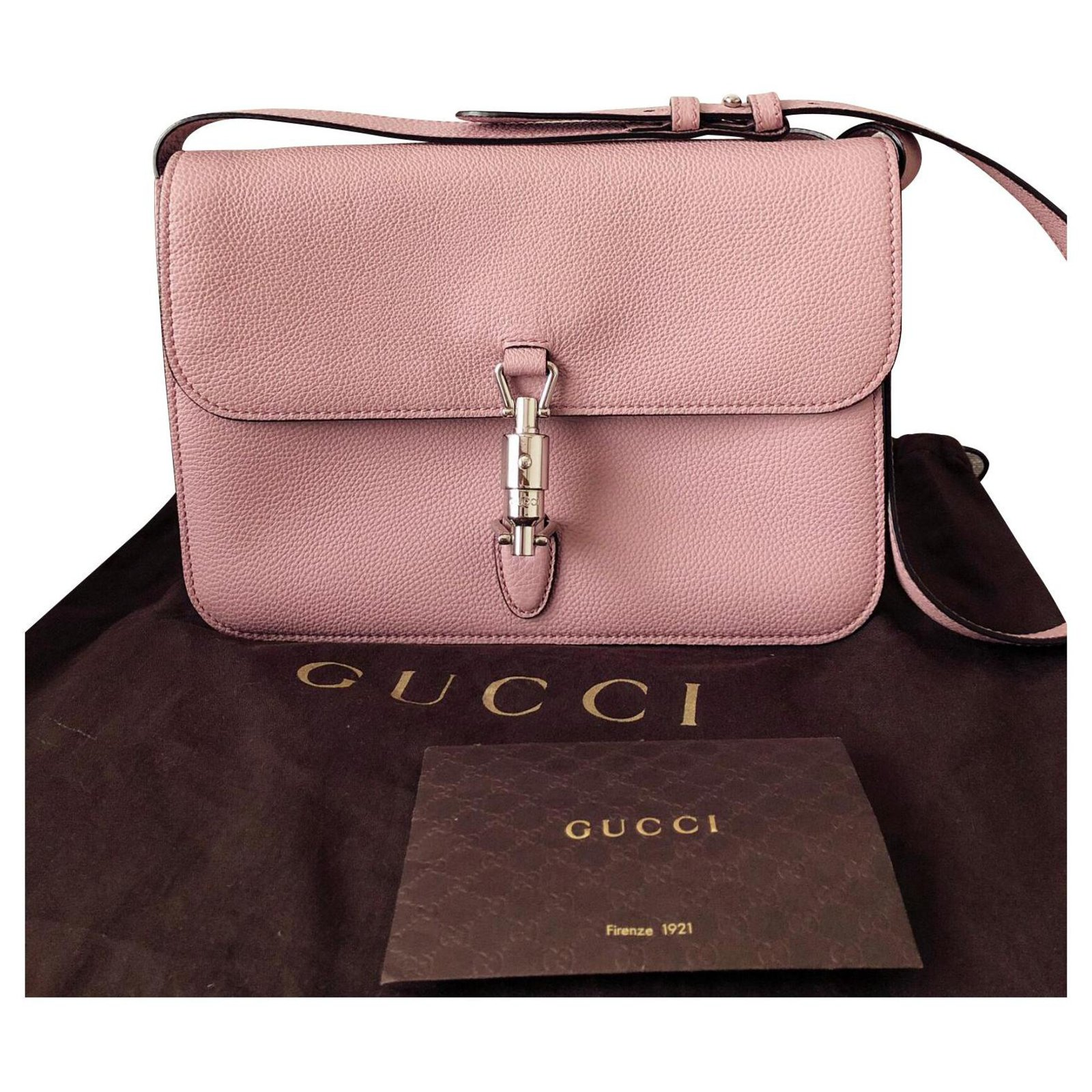 Gucci Jackie Bag Handbags Leather Pink Ref 122214