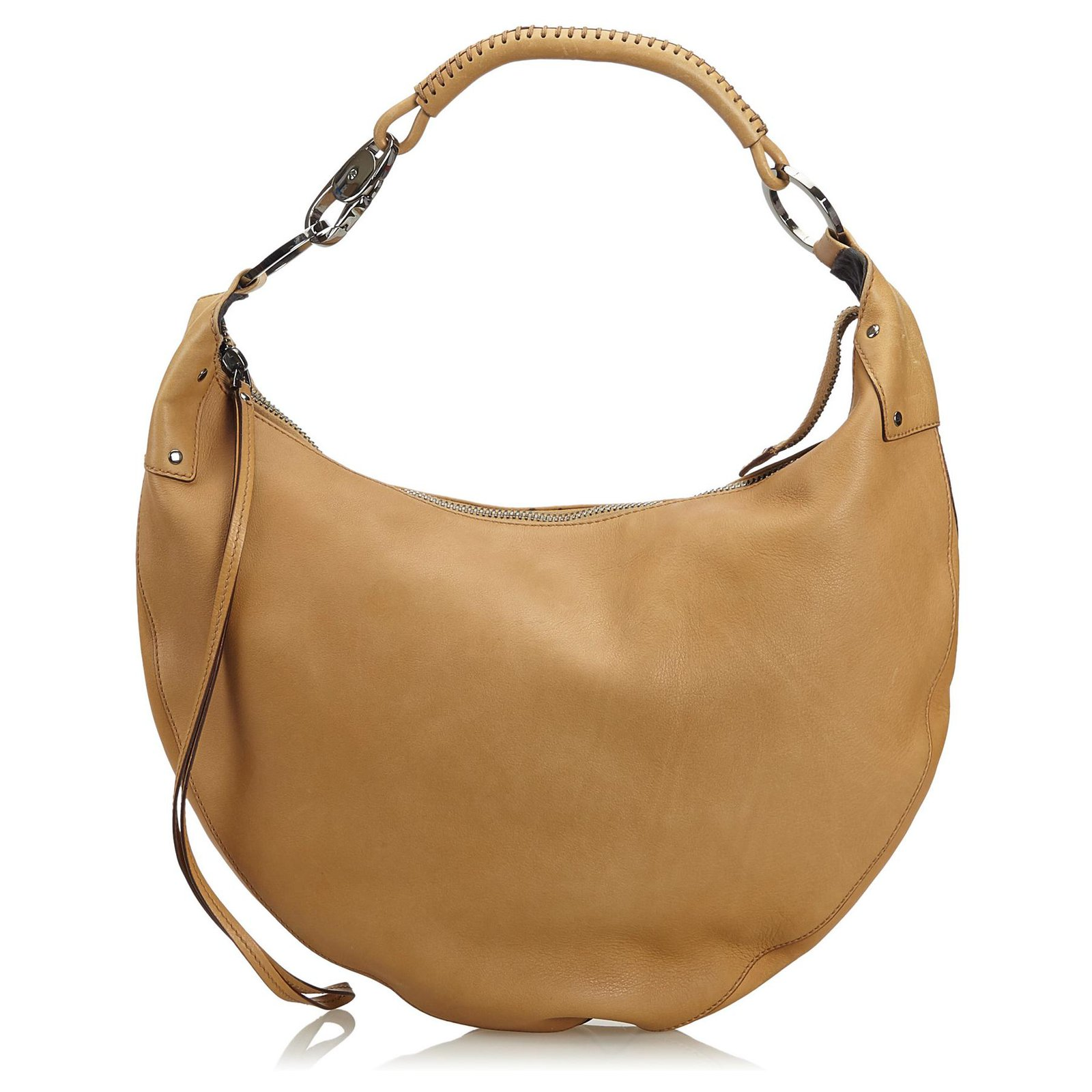 c6992d6e1 Gucci Gucci Brown Leather Half Moon Hobo Bag Handbags Leather,Other Brown  ref.122865
