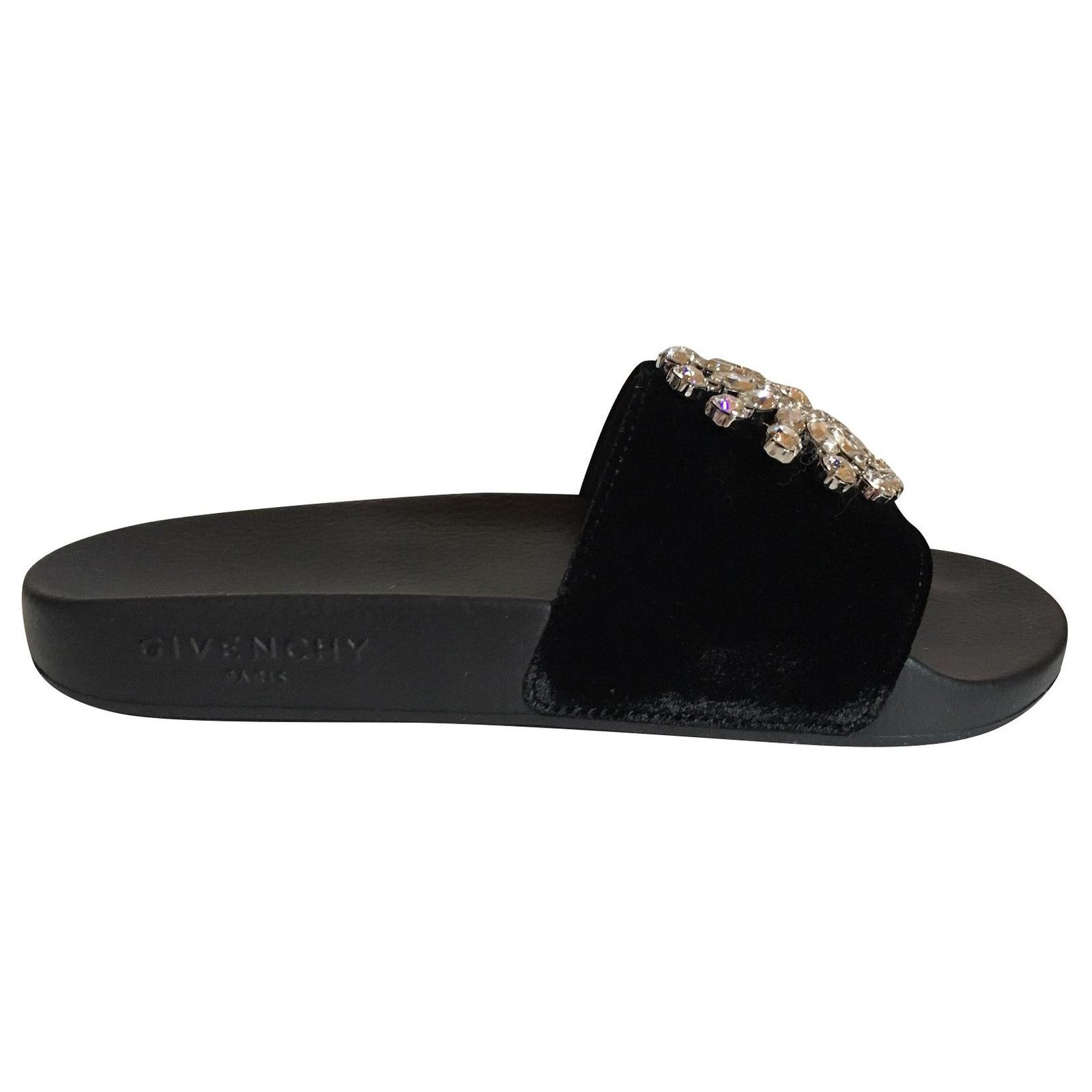 8de3958bdab3 Givenchy slide Sandals Leather Black ref.123019 - Joli Closet