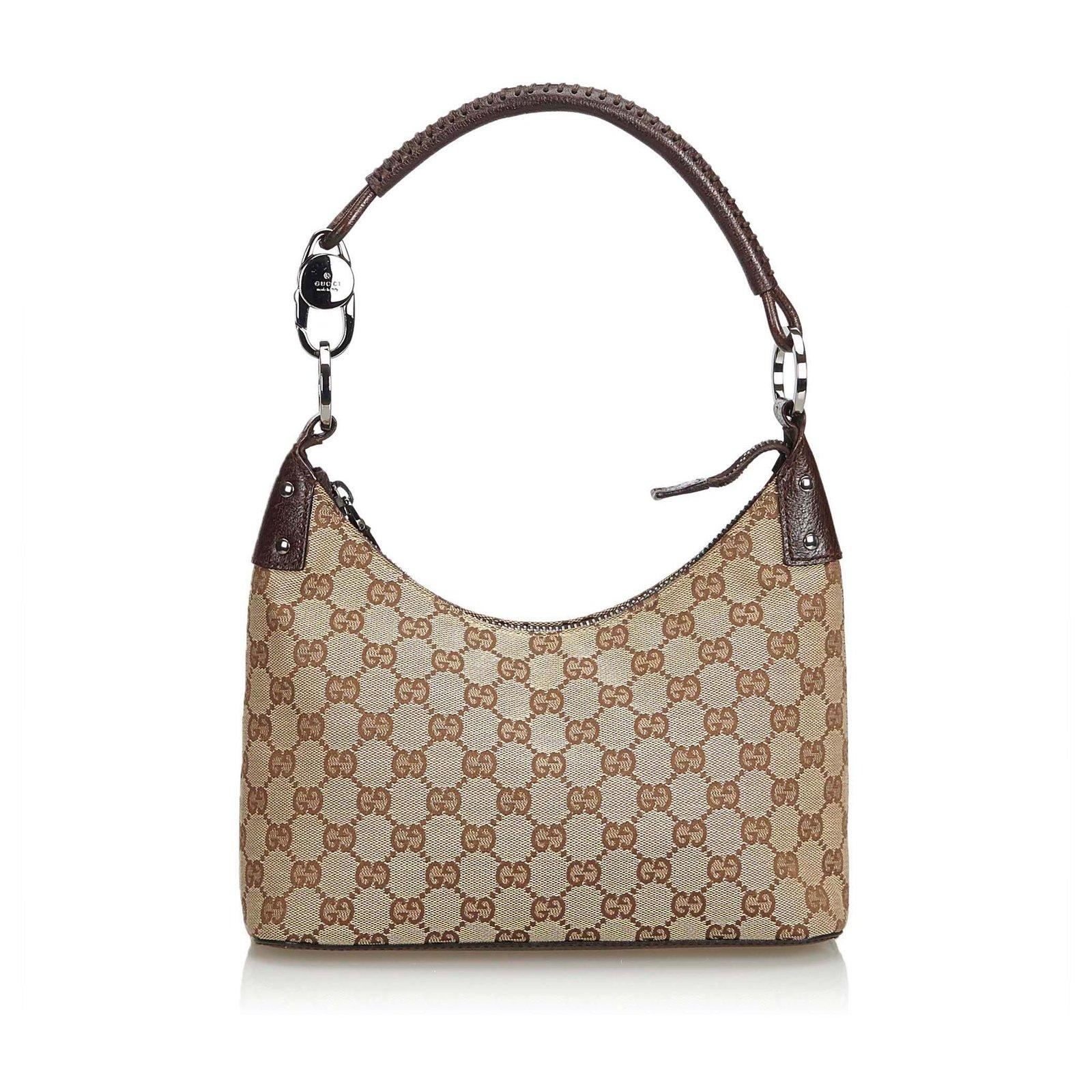 9fafd9de417 Gucci Gucci Brown GG Jacquard Hobo Bag Handbags Leather