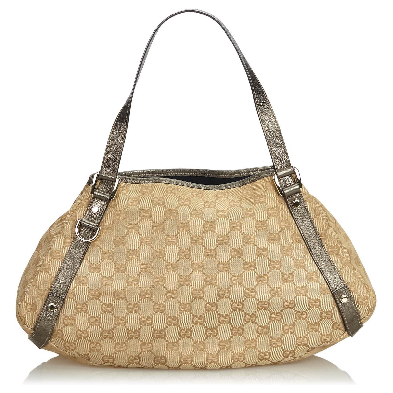 a0d53f1dbed5 Gucci Gucci Brown GG Jacquard Pelham Tote Bag Totes Leather,Other,Cloth  Brown,