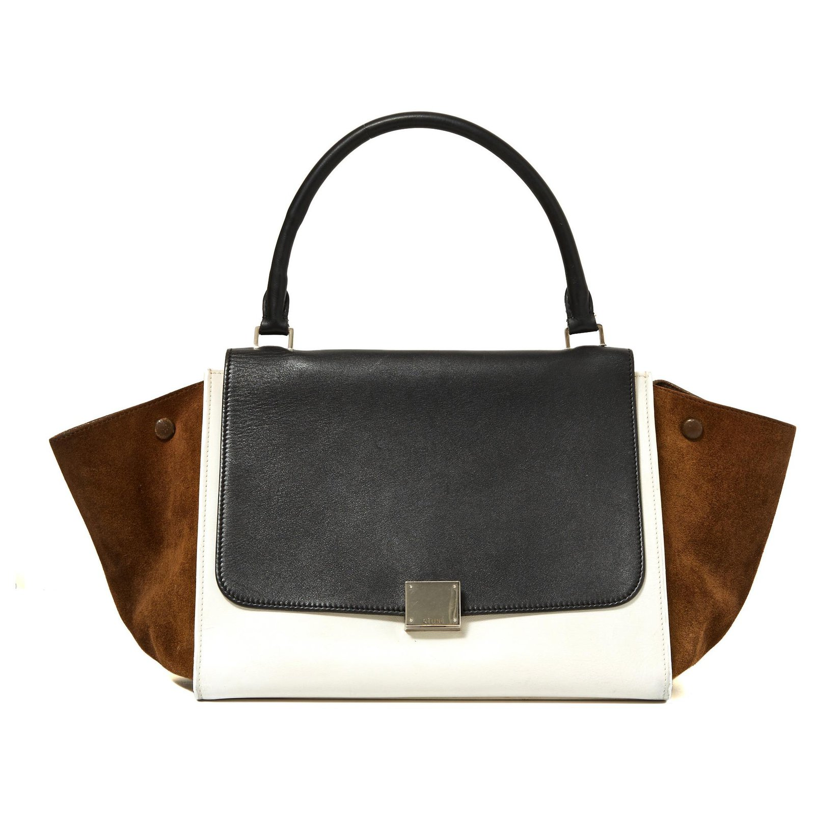 6fcc6586e78 Sacs à main Céline TRAPEZE WHITE BLACK BROWN Cuir