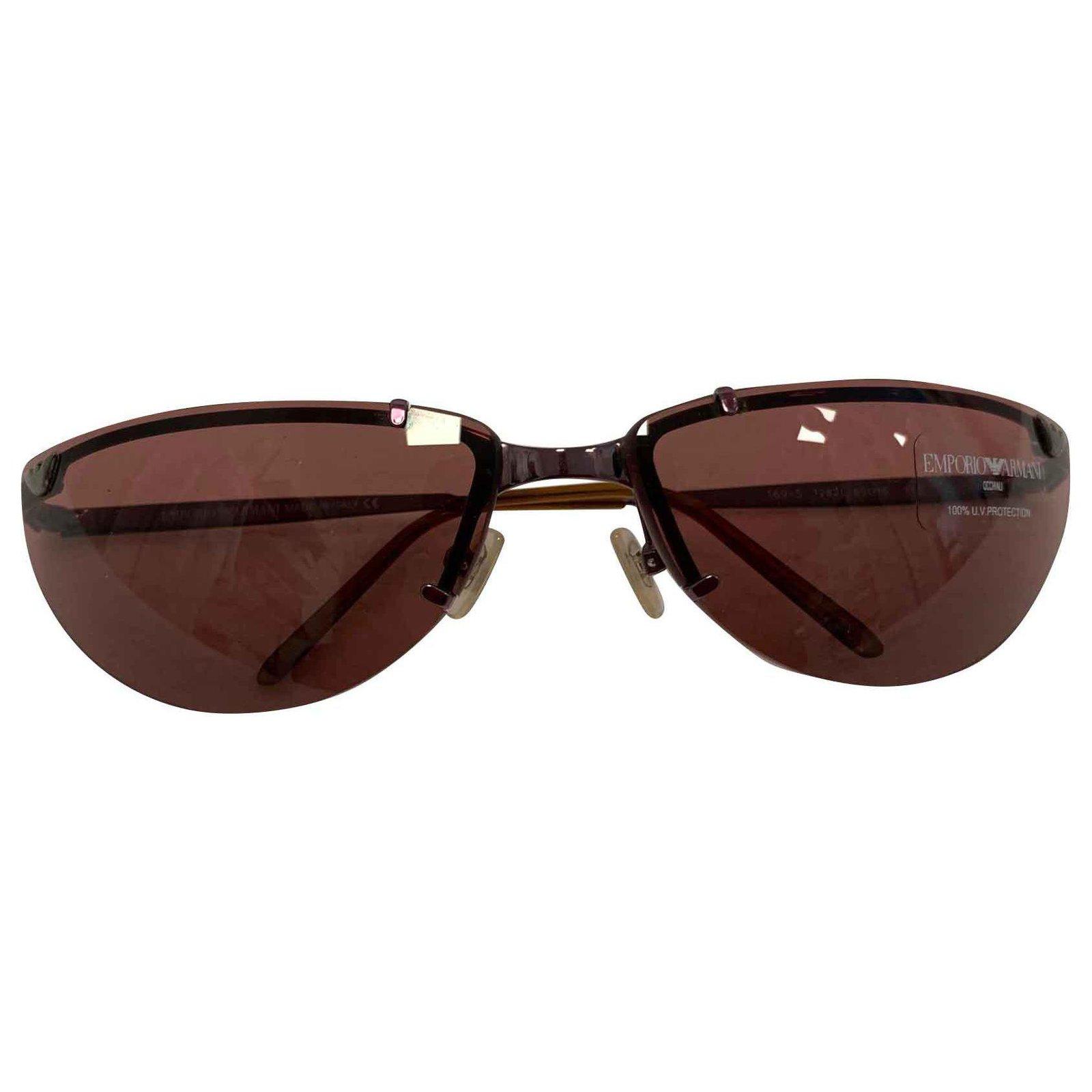 où acheter boutique pour officiel beau look Lunettes de soleil EA Vintage bordeaux claires