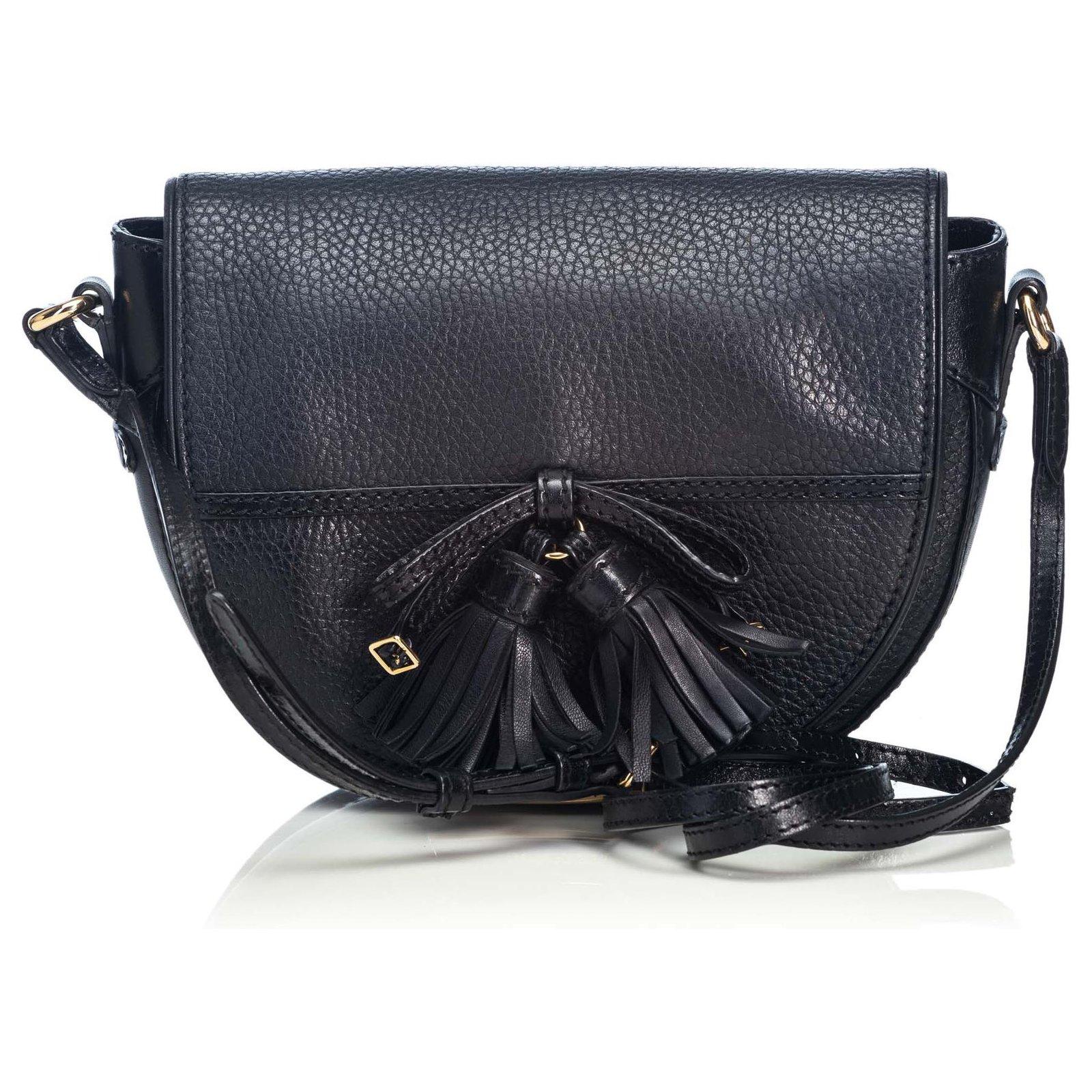 ebec84839 Burberry Burberry Black Leather Crossbody Bag Handbags Leather,Other Black  ref.123953