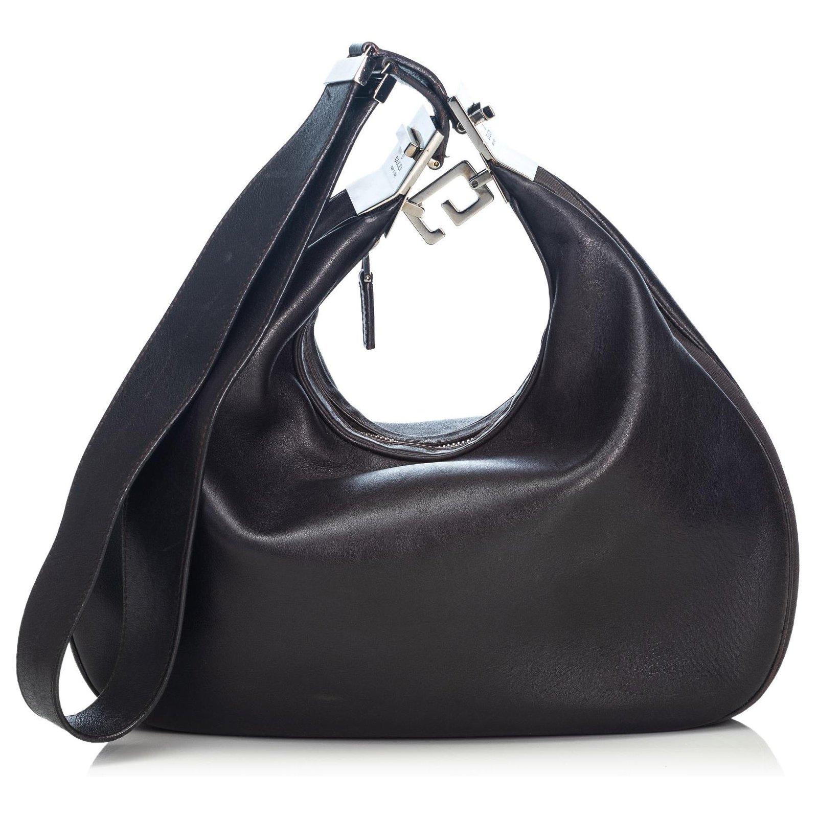 0ca85dbbc Gucci Gucci Black Leather Hobo Bag Handbags Leather,Other Black ref.124015