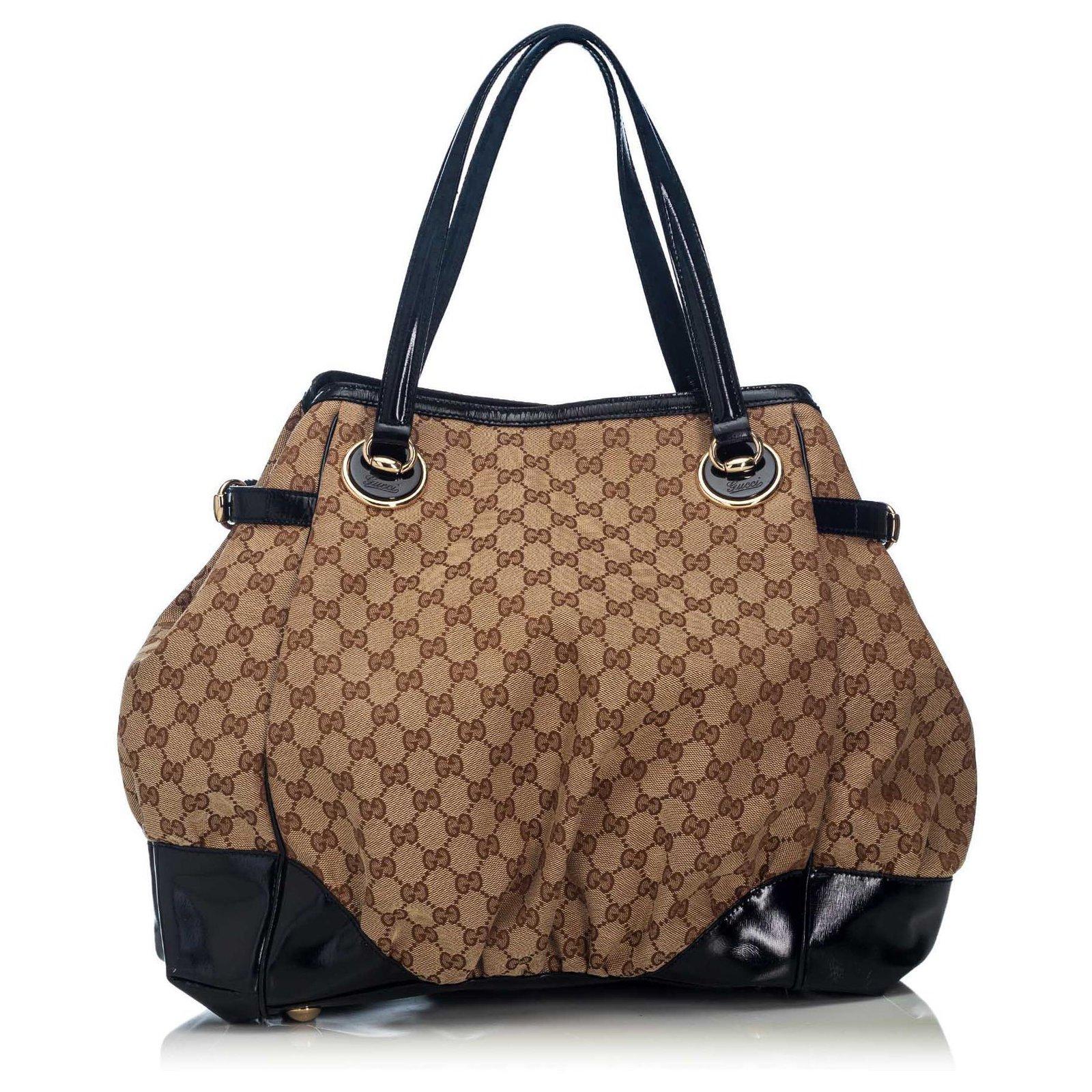 e37fbf2e9a8 Gucci Gucci Brown GG Full Moon Tote Bag Totes Leather