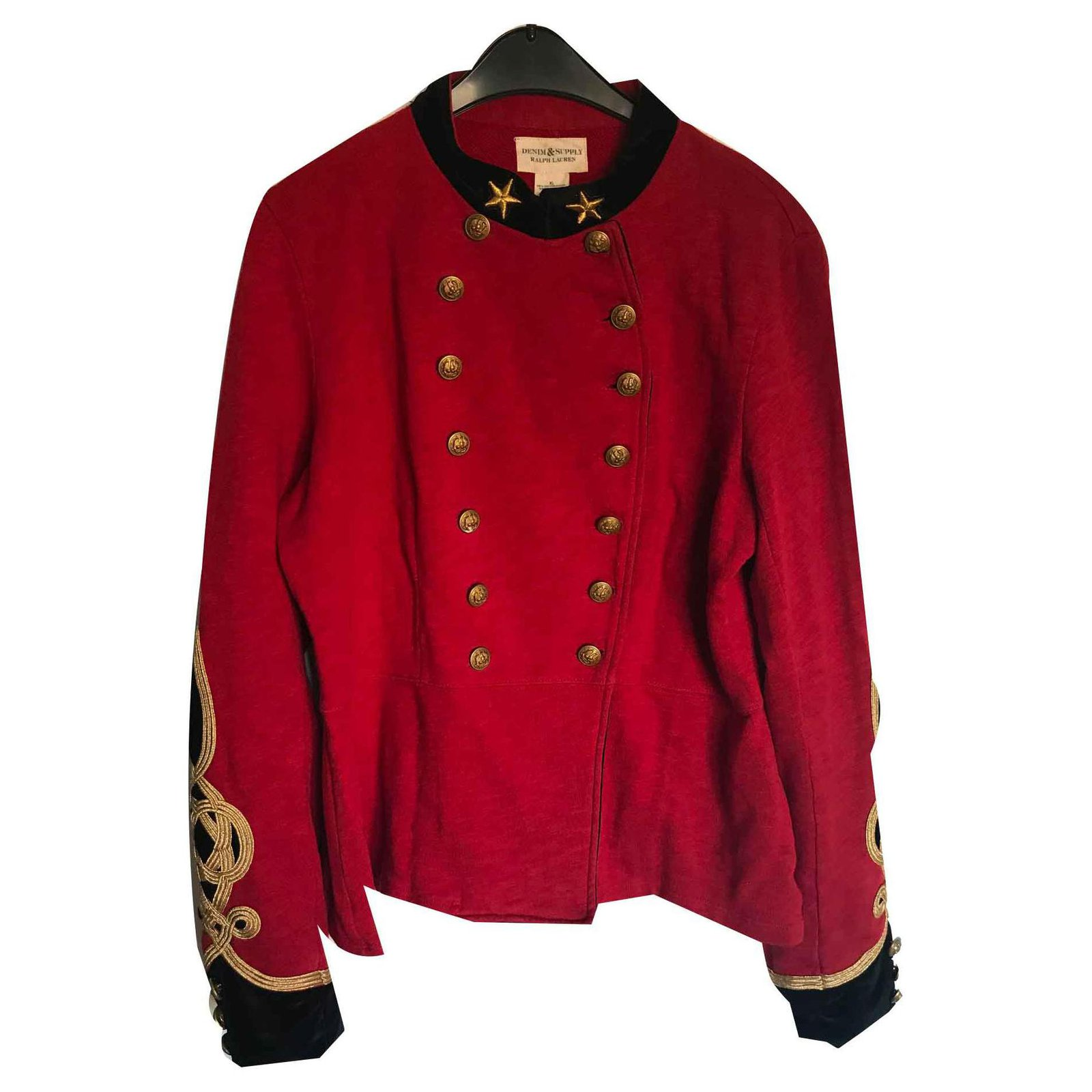 Vestes Ralph Lauren Officier Coton Rouge
