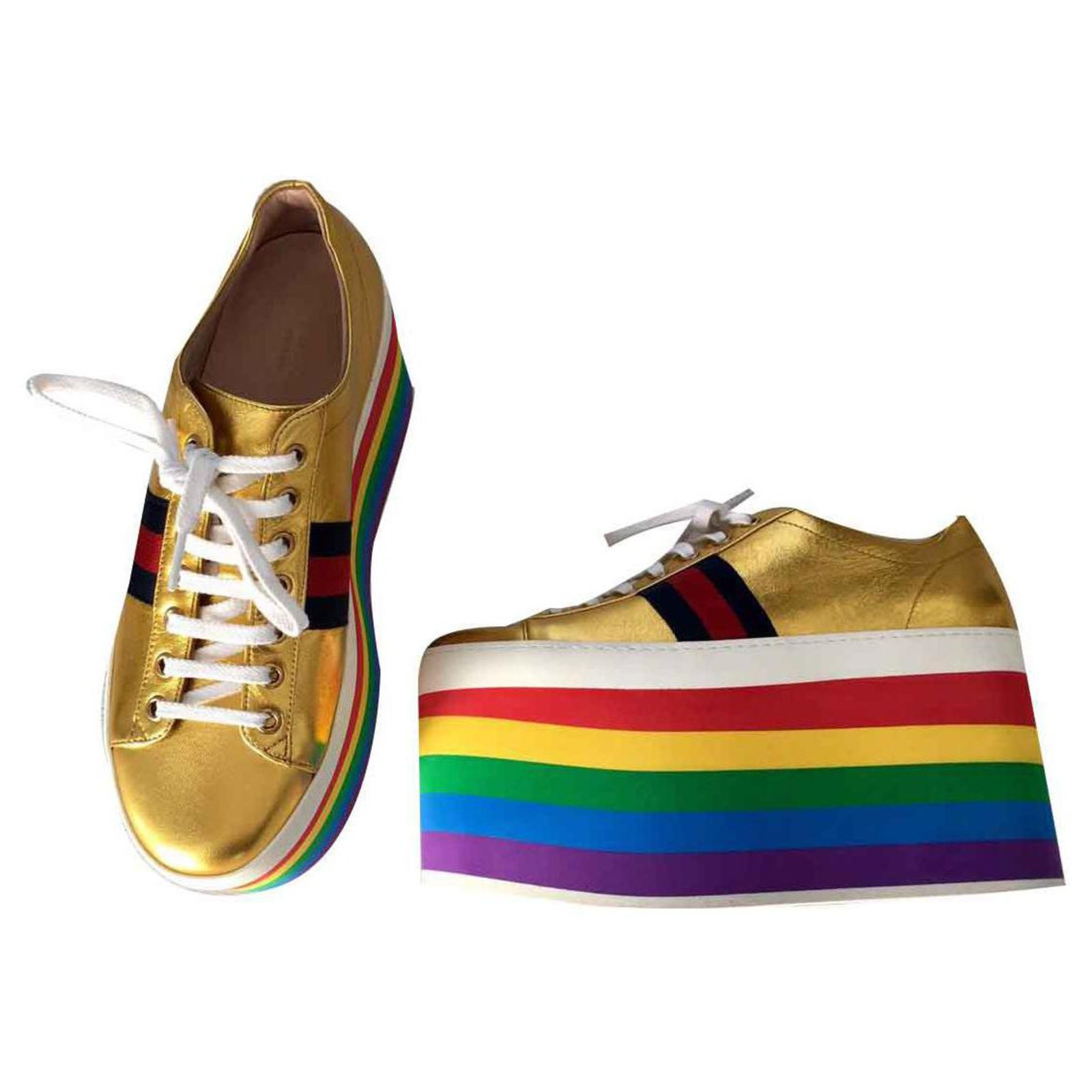 7707f3210 Gucci GUCCI ACE SNEAKERS NEW Sneakers Leather Multiple colors ref.124485