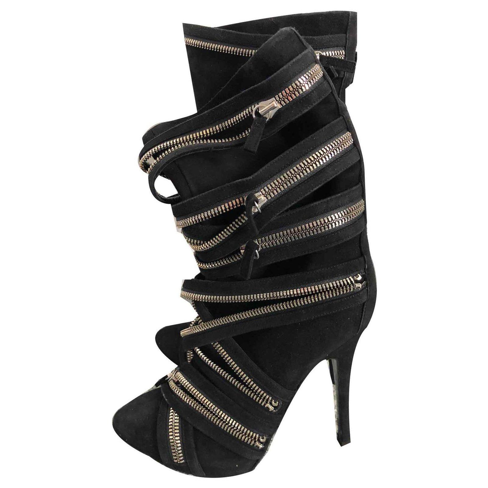 Balmain Boots Boots Suede Black ref