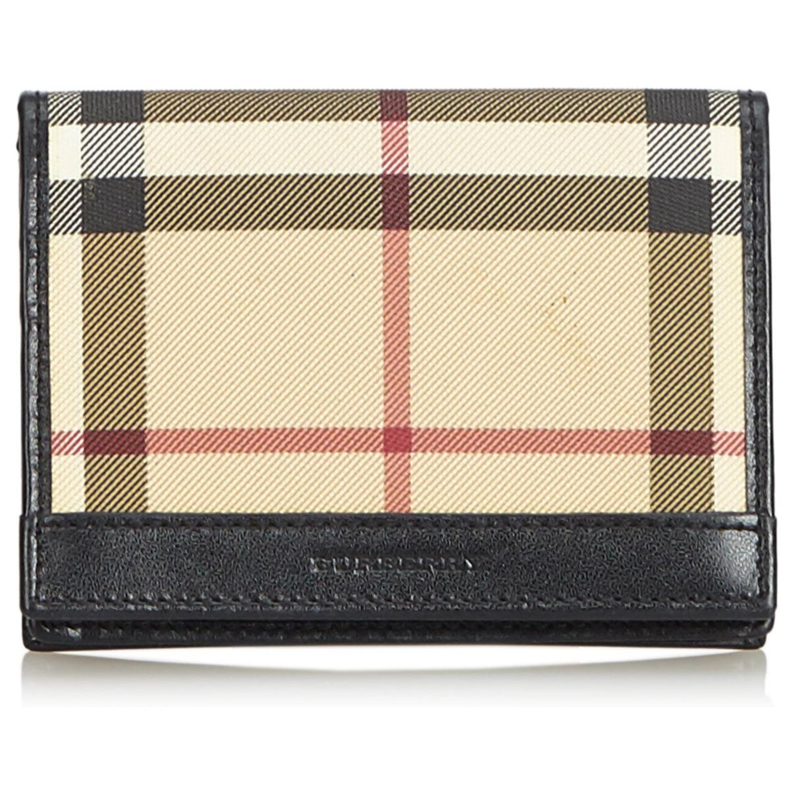 new style a1842 42140 Burberry Brown Nova Check Card Holder