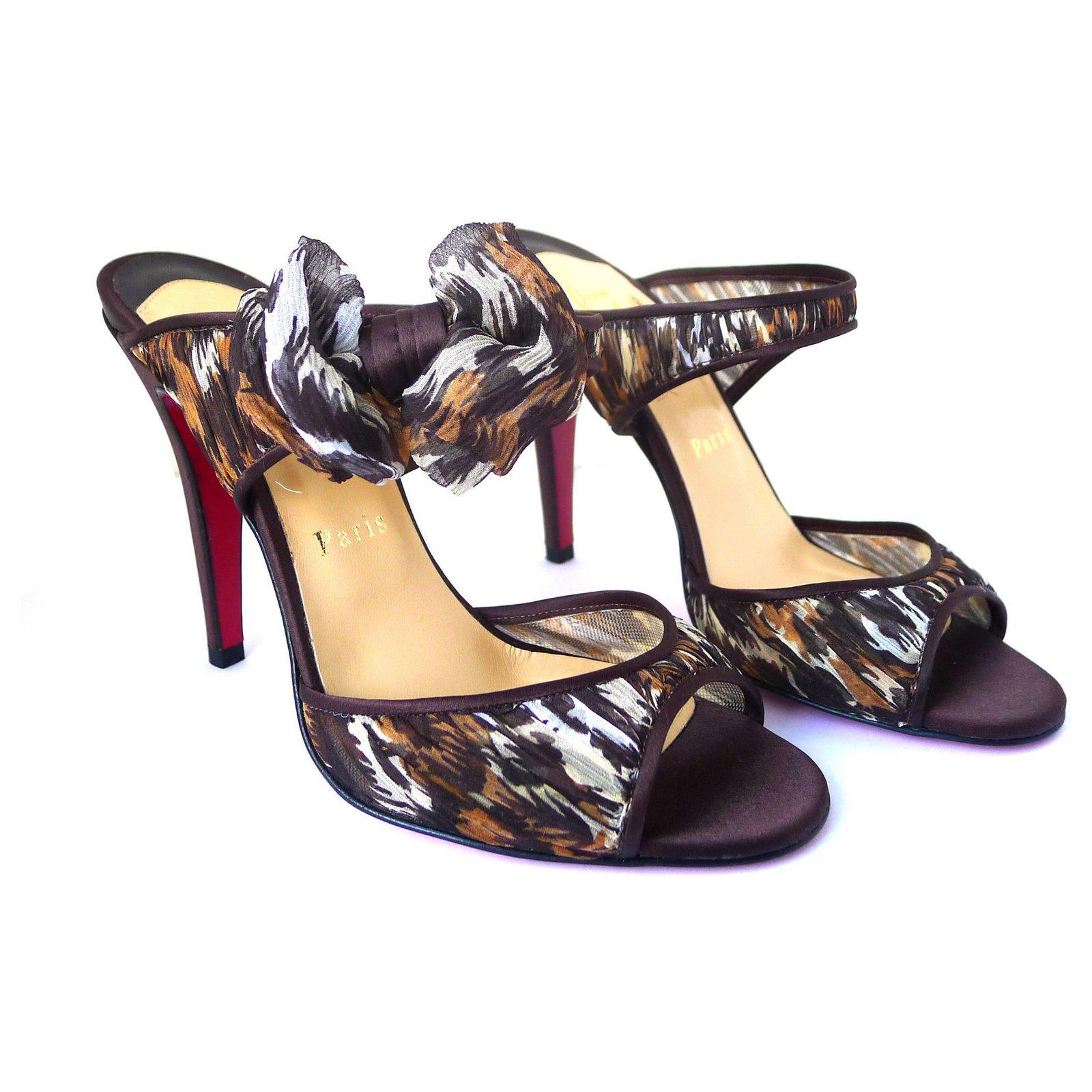 uk availability 84015 50e66 Christian Louboutin Miss Chief Safari Sandals