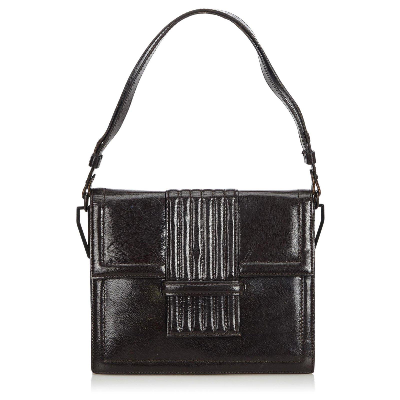 58c196c6e7 Yves Saint Laurent YSL Black Leather Shoulder Bag Handbags Leather,Other  Black ref.127775