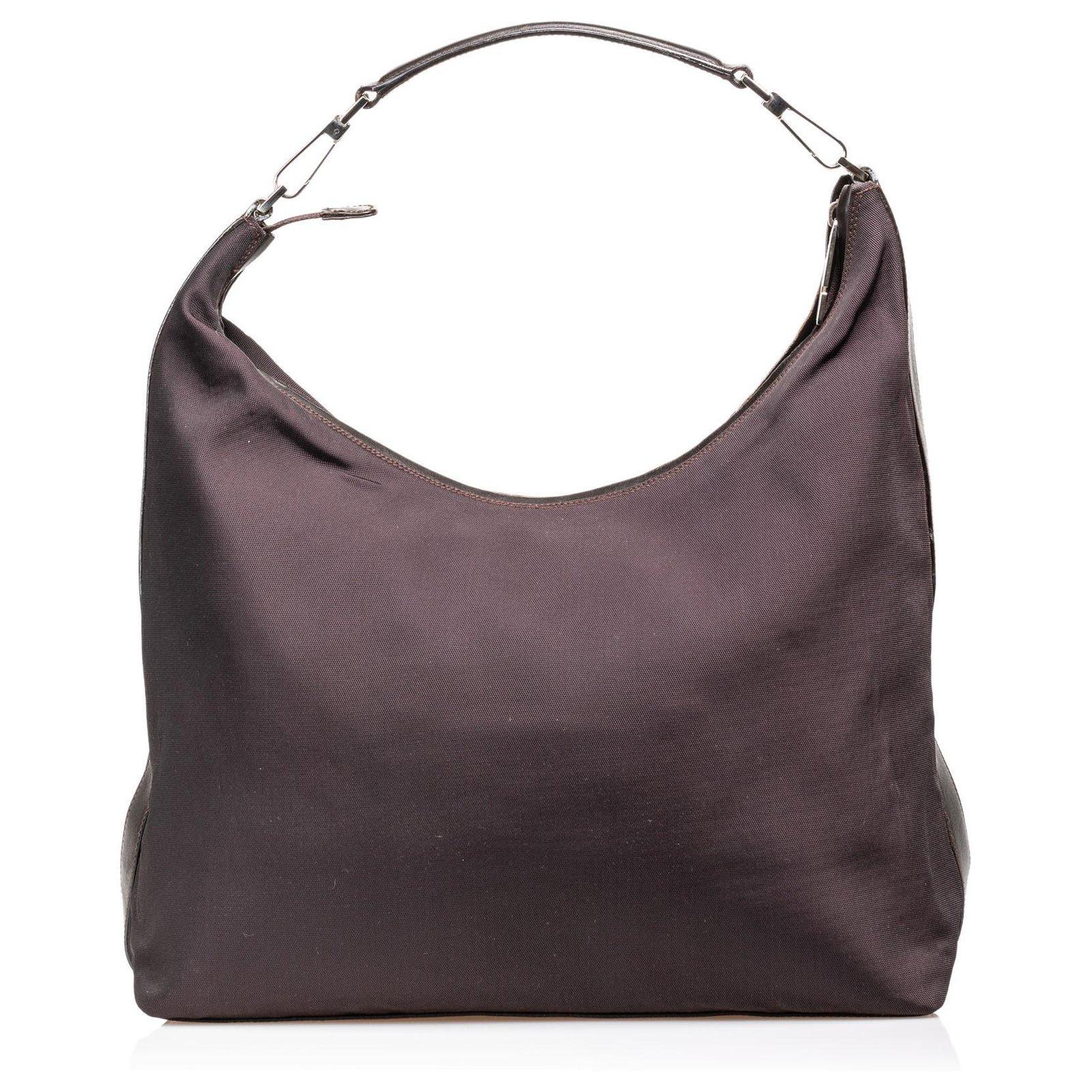 8bb4bb73e1eb Gucci Gucci Black Nylon Shoulder Bag Handbags Leather,Other,Nylon,Cloth  Black ref
