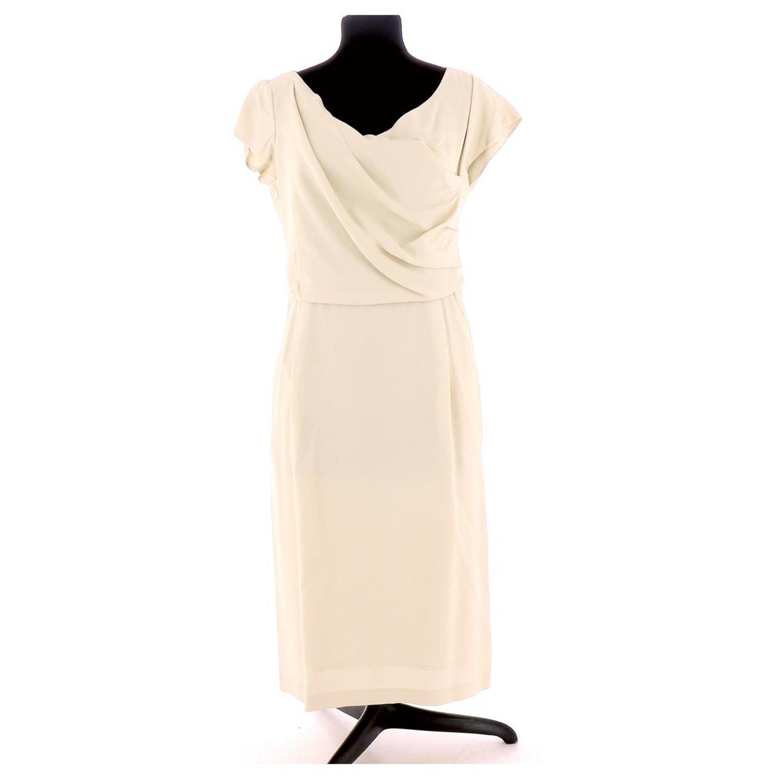 Tara Jarmon Robe Dresses Triacetate Beige Ref 128571 Joli Closet