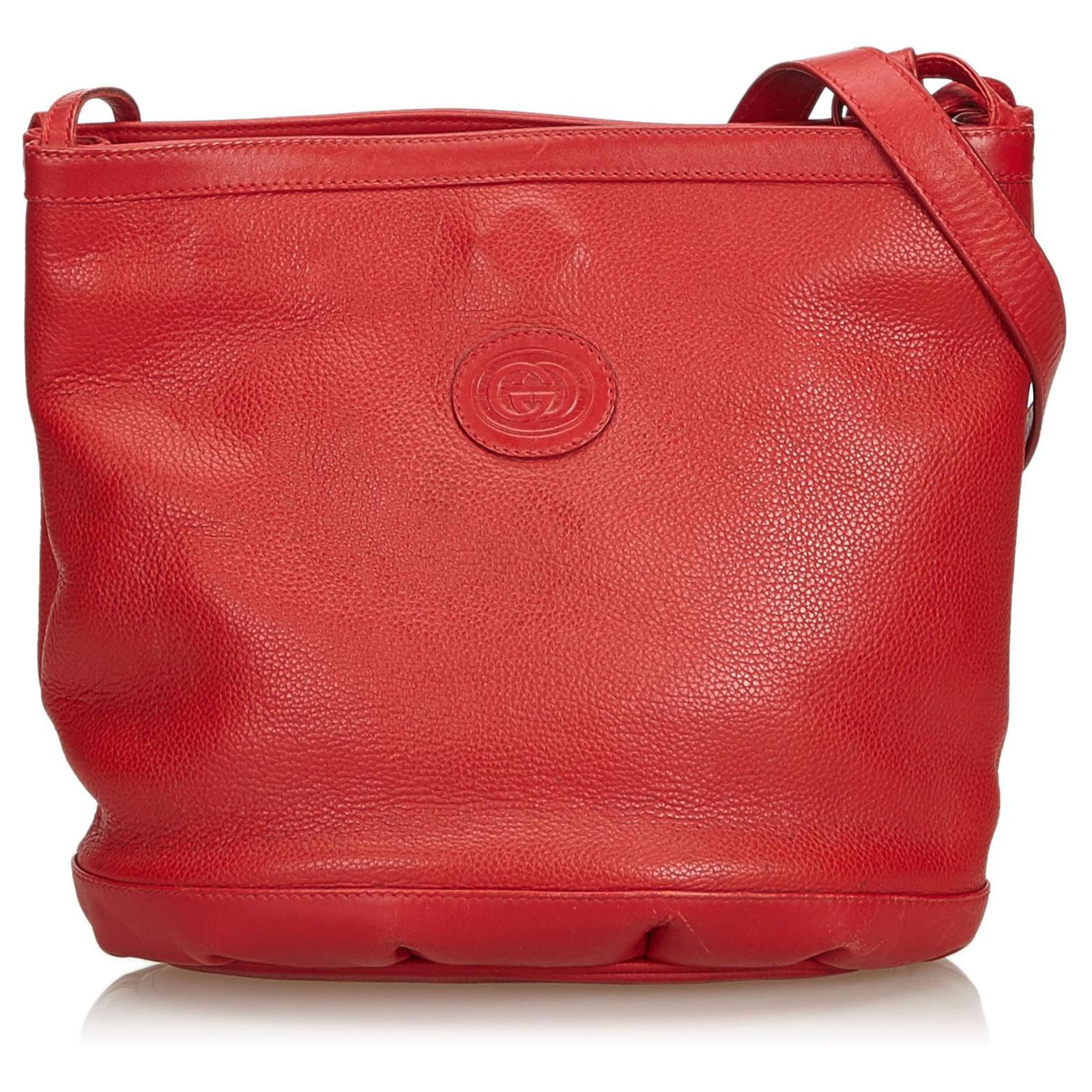 446ed63d452 Gucci Red Leather Crossbody Bag