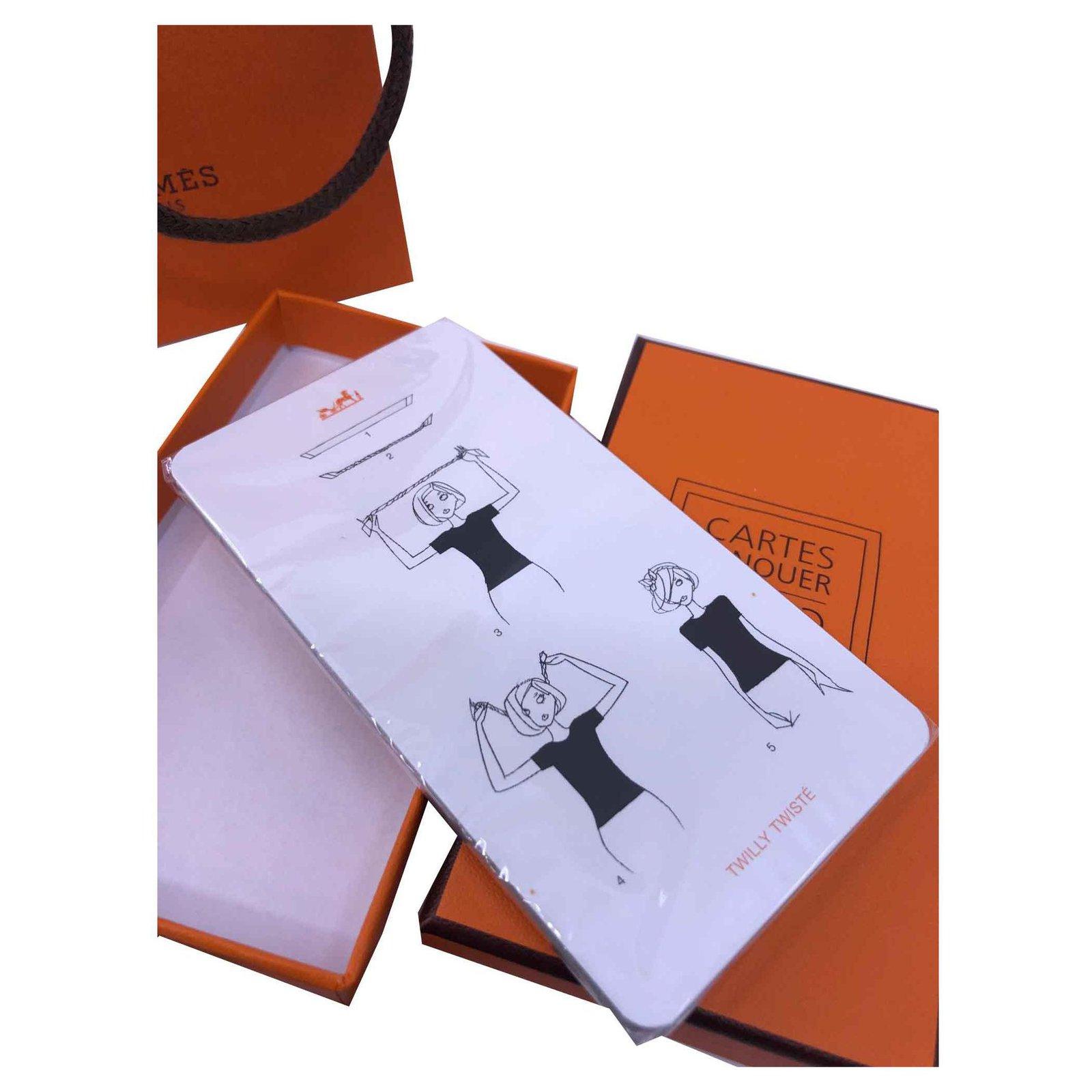 herm u00e8s card to tie vip gifts plastic white orange ref