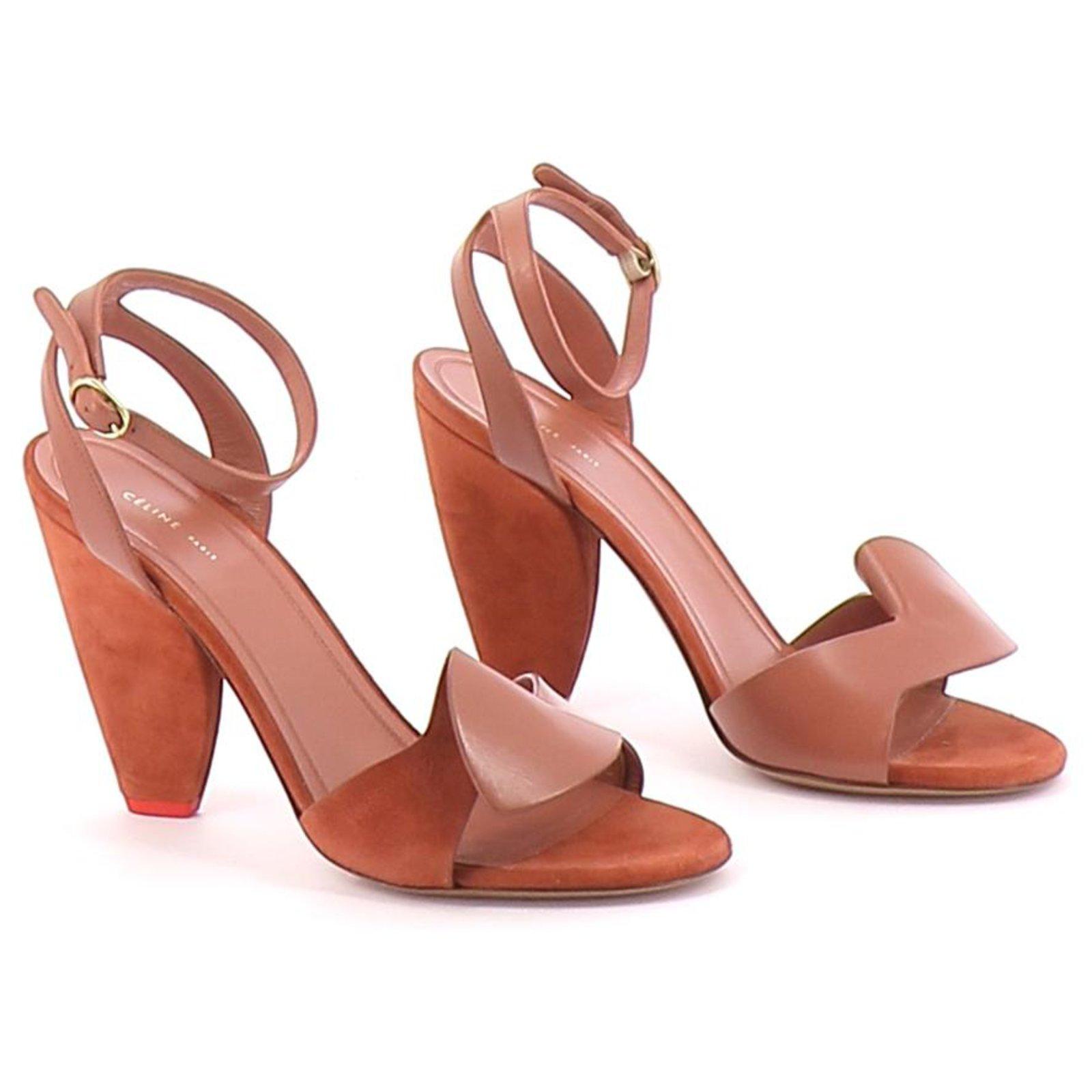 Céline sandals Sandals Leather Brown
