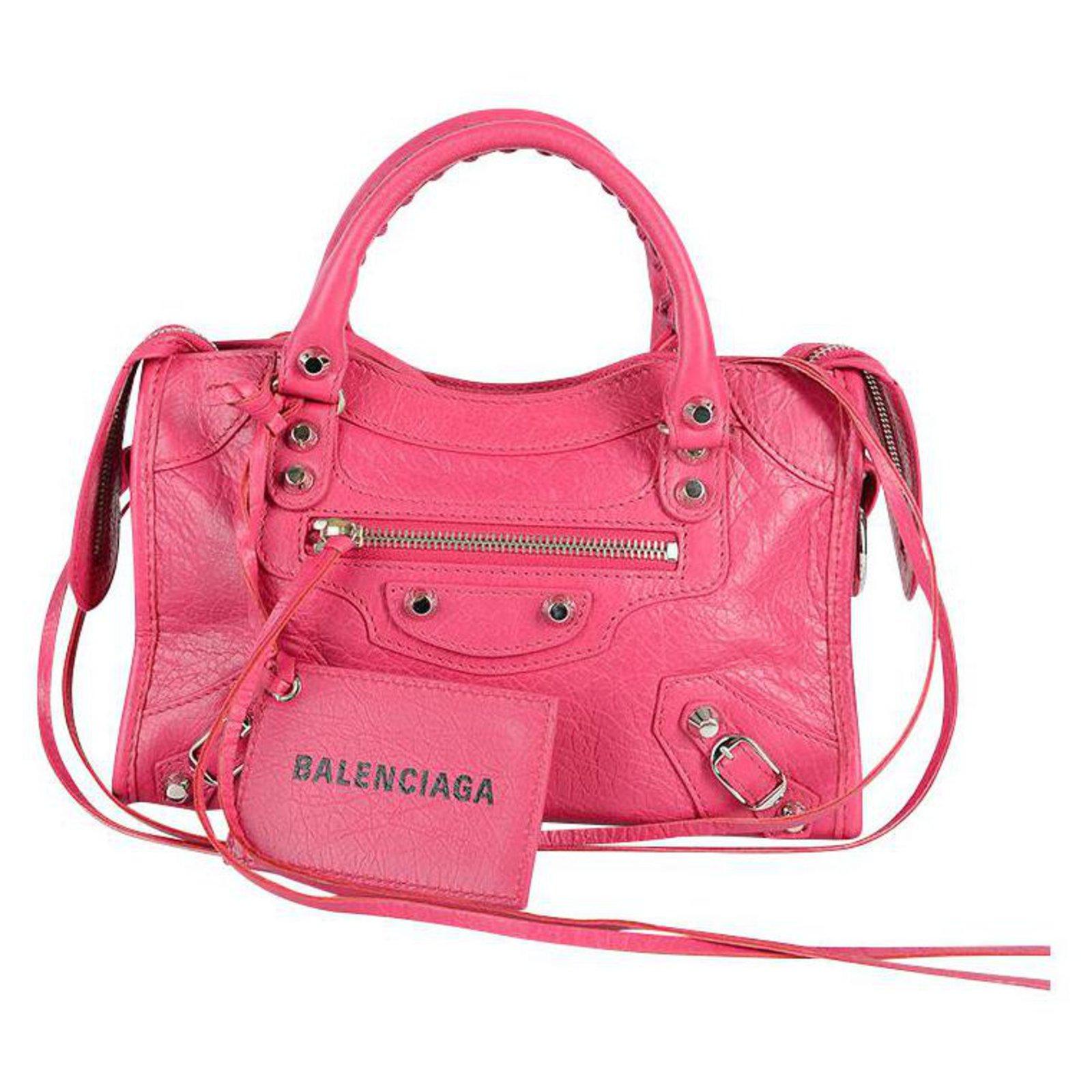 Handbags Leather Pink ref.131562