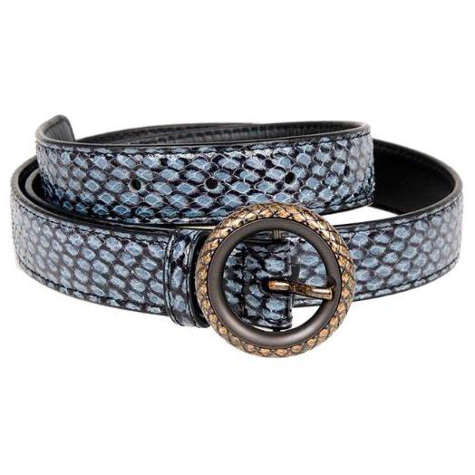 Bottega Veneta Women's belt Belts Leatherette Blue ref.131667 - Joli Closet