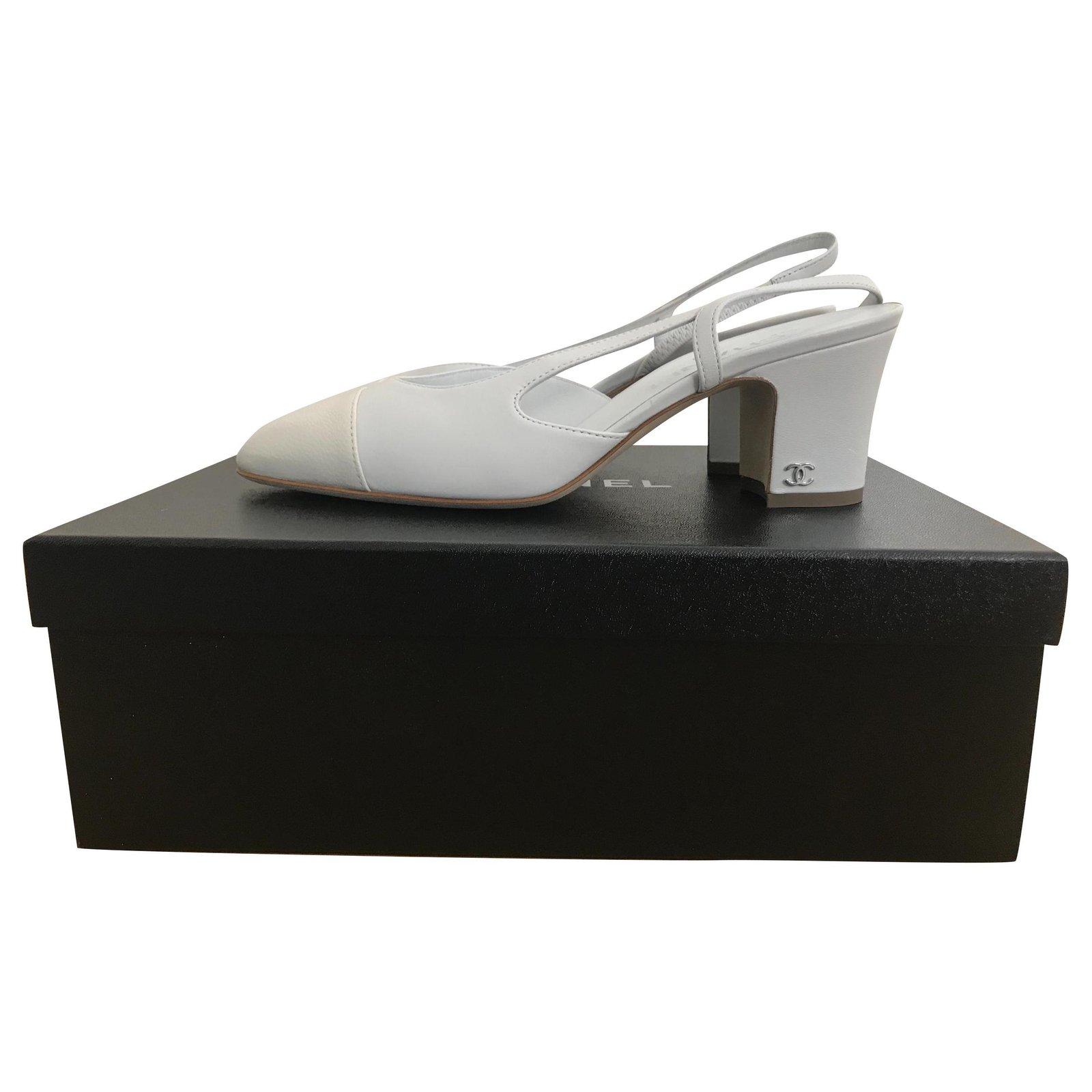 Chanel Chanel Slingback Heels Leather