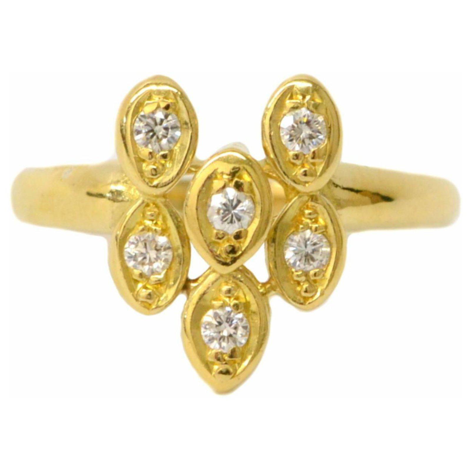 683bf308c289c Bagues Dior Bague Diamant Dior Or jaune Jaune ref.132255 - Joli Closet