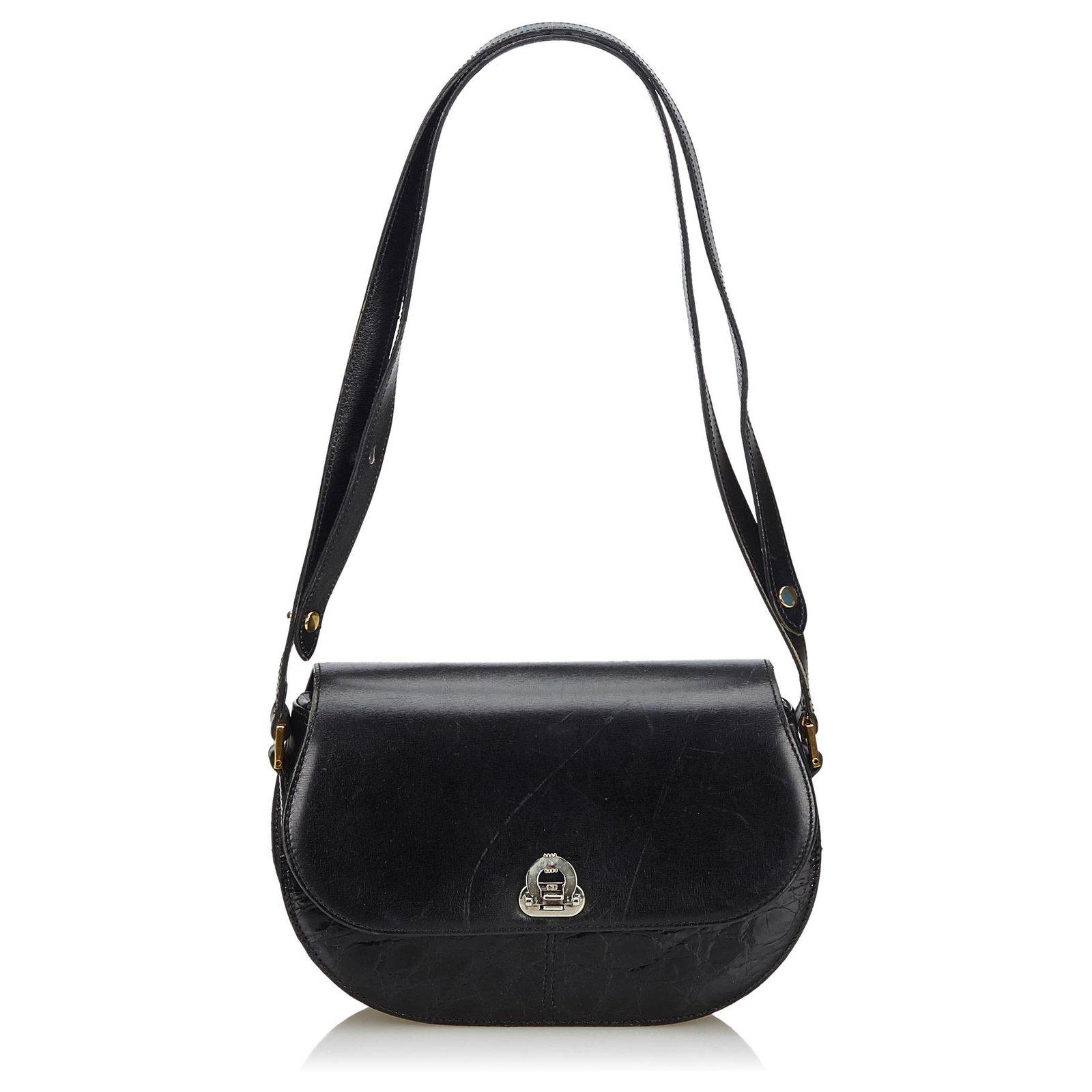 5b448f30fa Dior Dior Black Leather Crossbody Bag Handbags Leather,Other Black  ref.132554