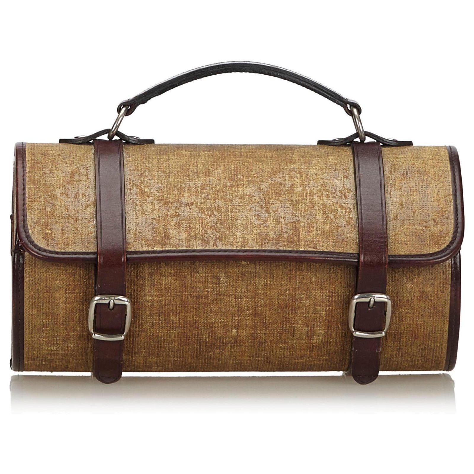 Chanel Brown Fabric Handbag